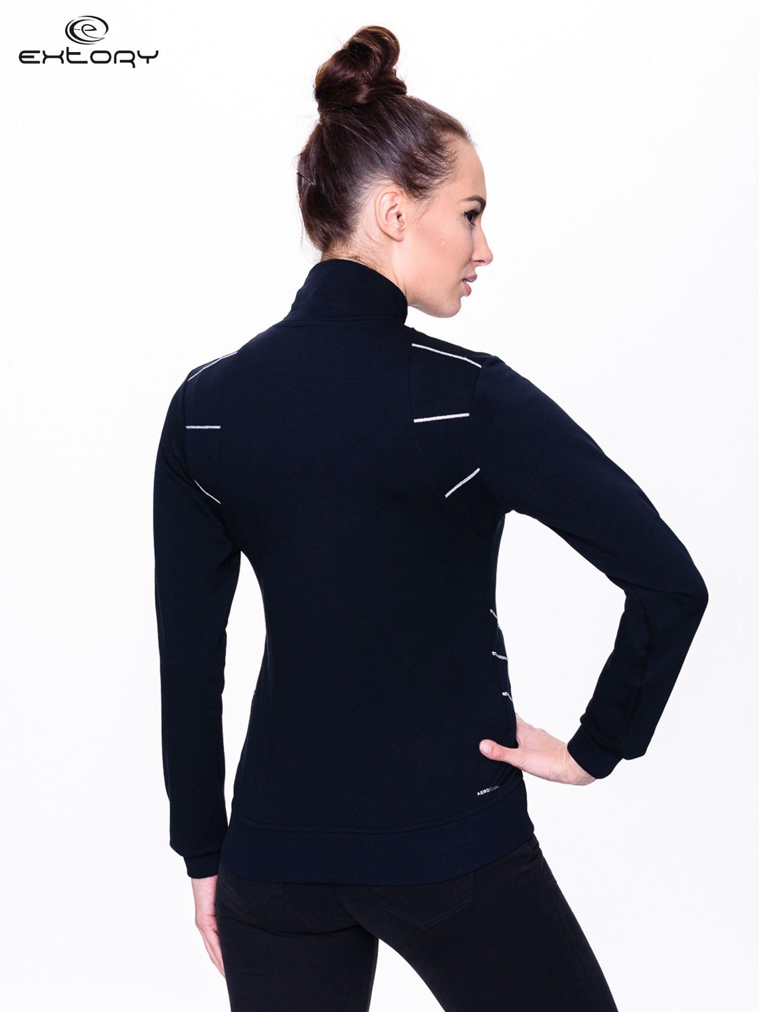 Czarna bluza sportowa z logo EXTORY                                  zdj.                                  3
