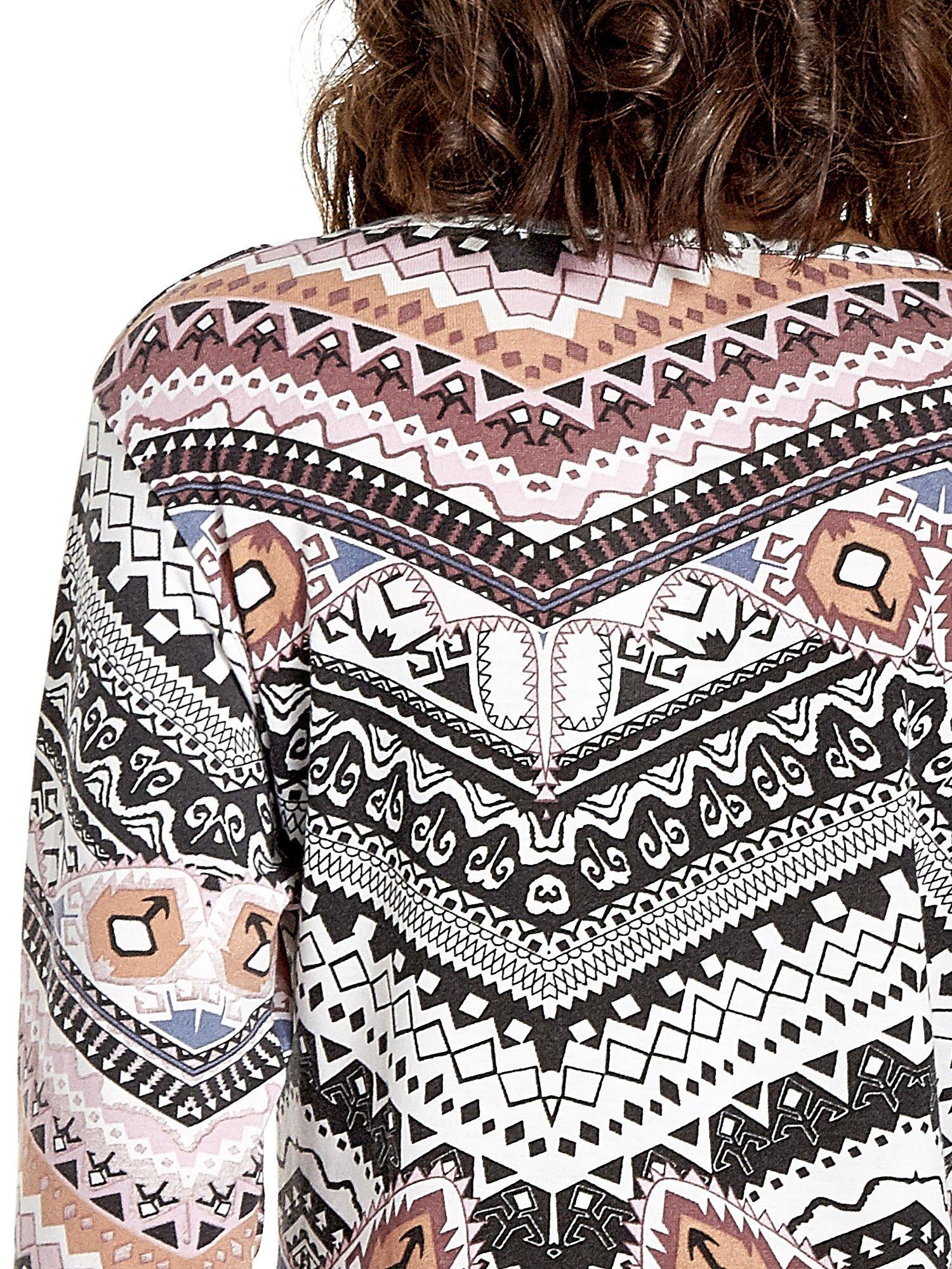 Czarna bluza w azteckie wzory z koronką                                  zdj.                                  7