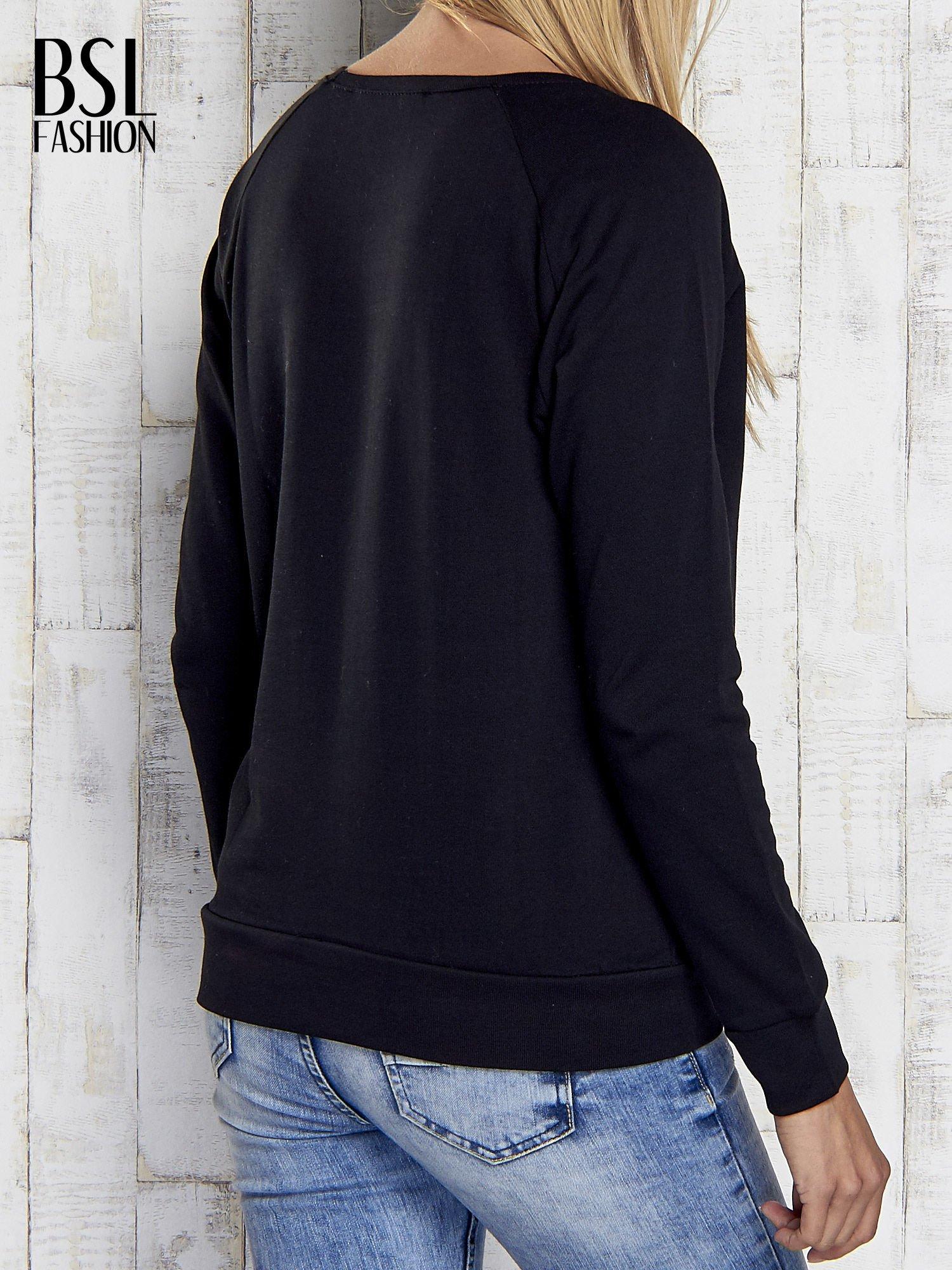 Czarna bluza z napisem NICCE LONDON                                  zdj.                                  2