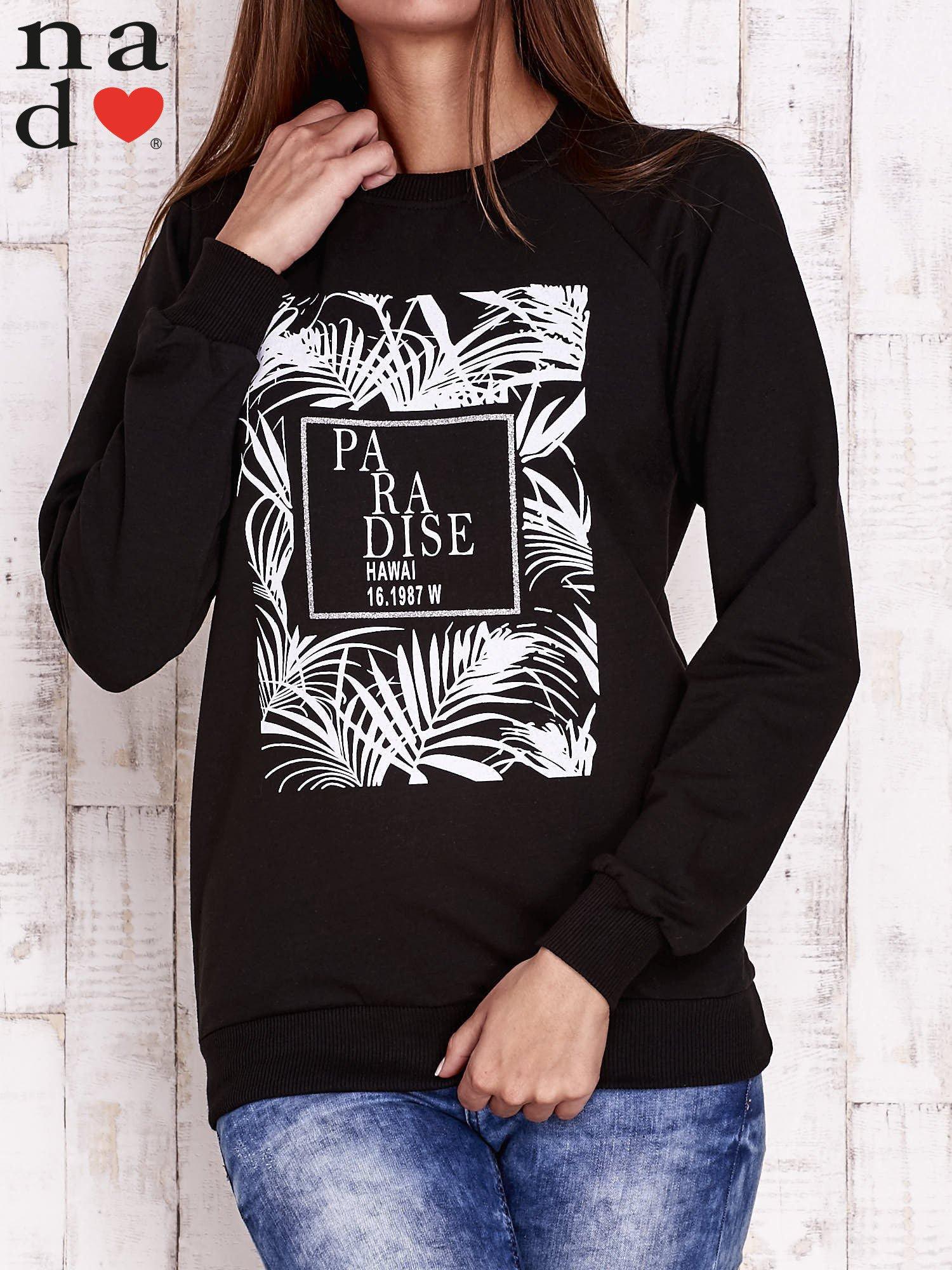 Czarna bluza z napisem PARADISE                                  zdj.                                  2