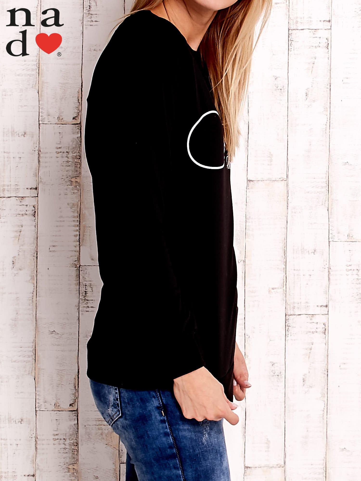 Czarna bluza z napisem SMILER                                  zdj.                                  3