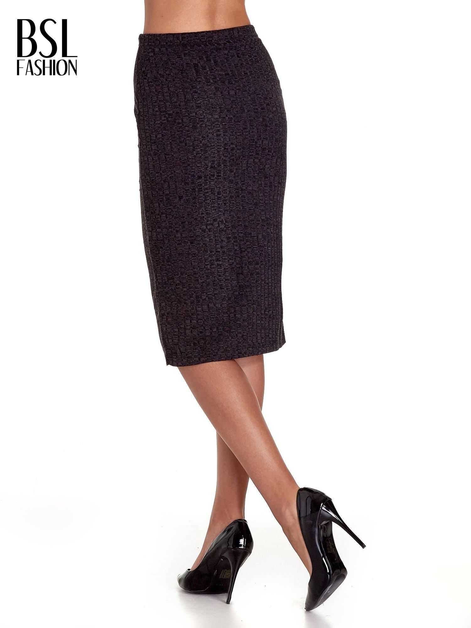 Czarna dzianinowa spódnica za kolano                                  zdj.                                  4