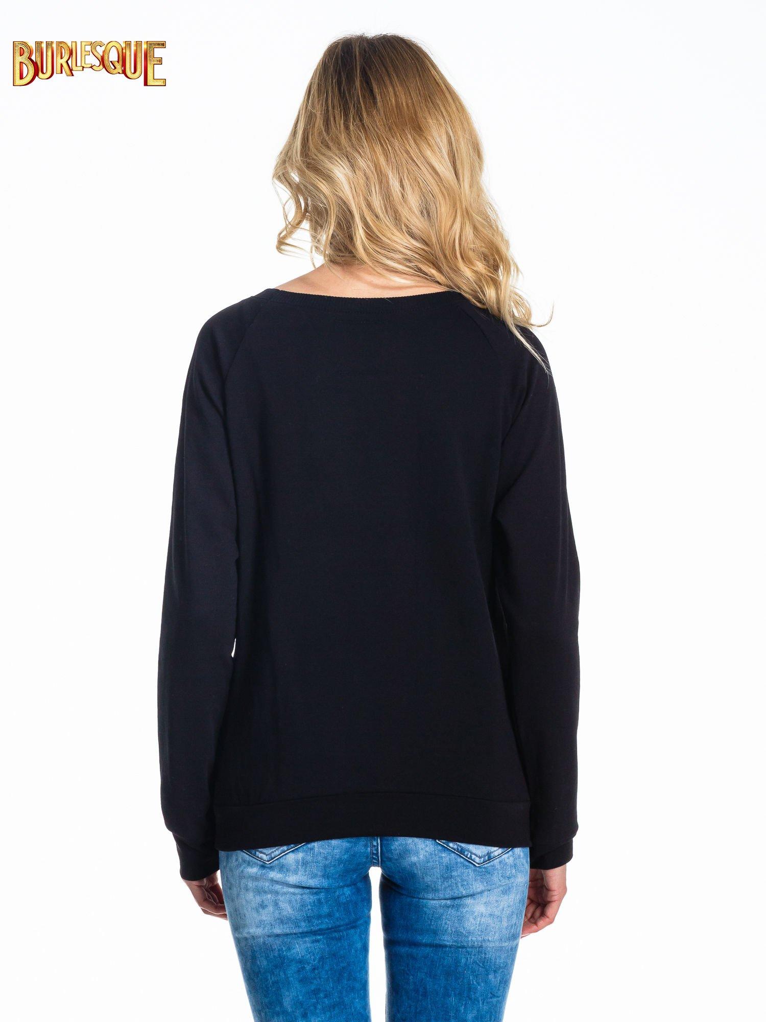 Czarna klasyczna bluza damska z napisem WORK OUT                                  zdj.                                  2
