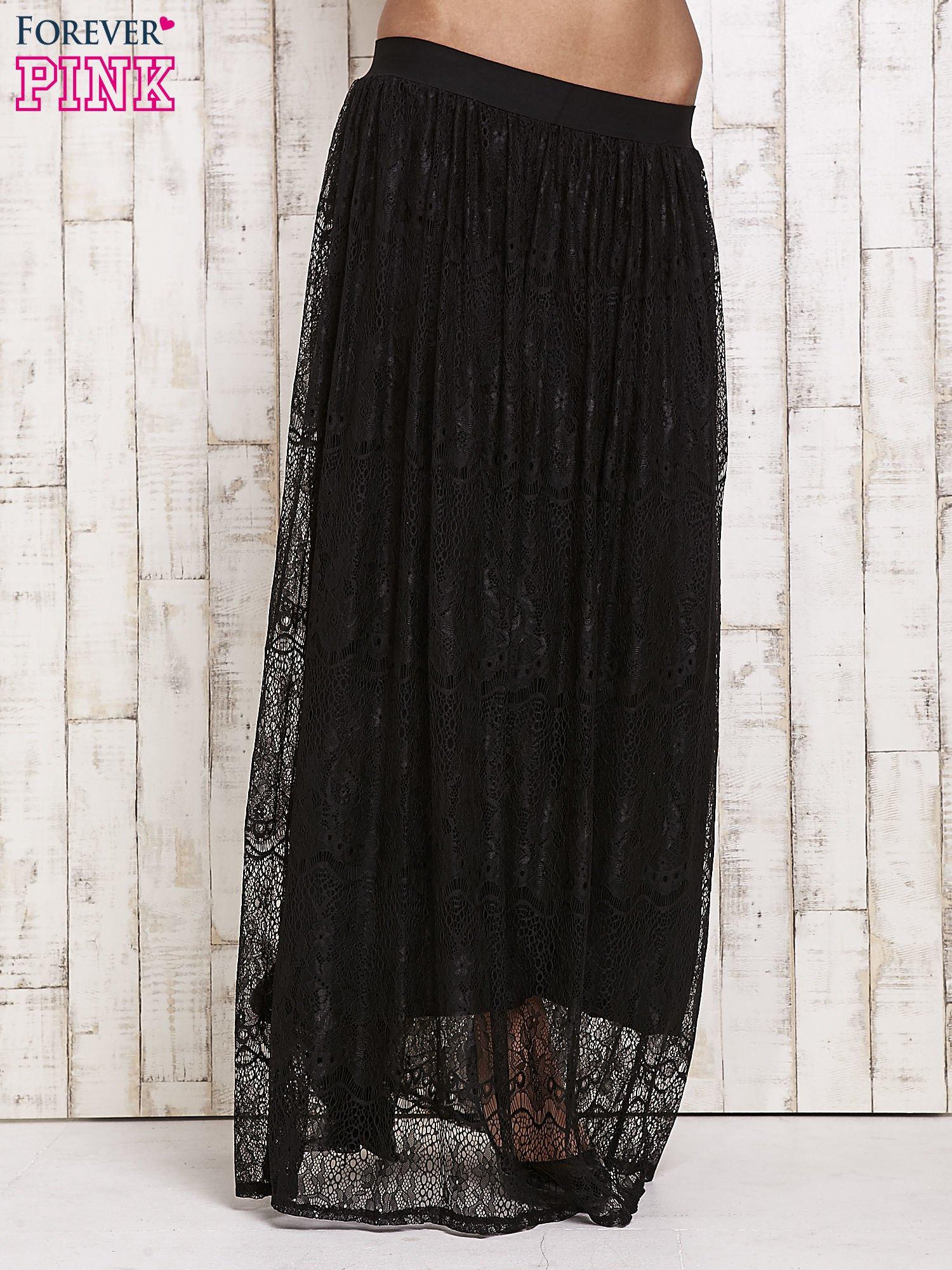 Czarna koronkowa spódnica maxi                                  zdj.                                  1