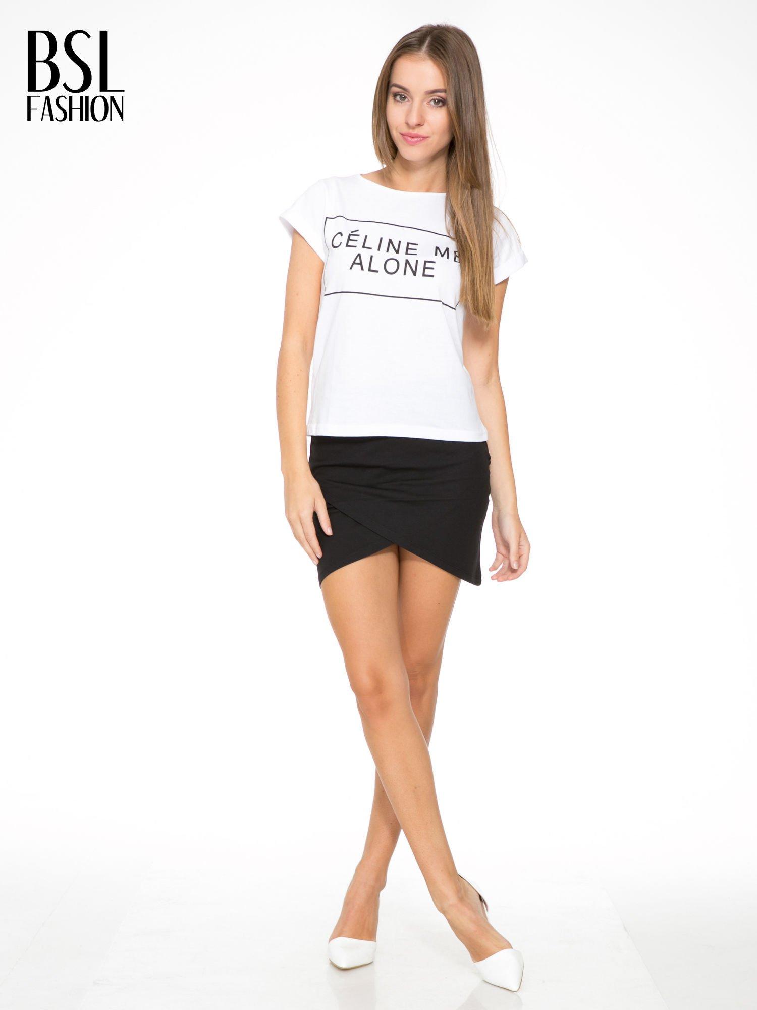 Czarna mini spódnica kopertowa                                  zdj.                                  2