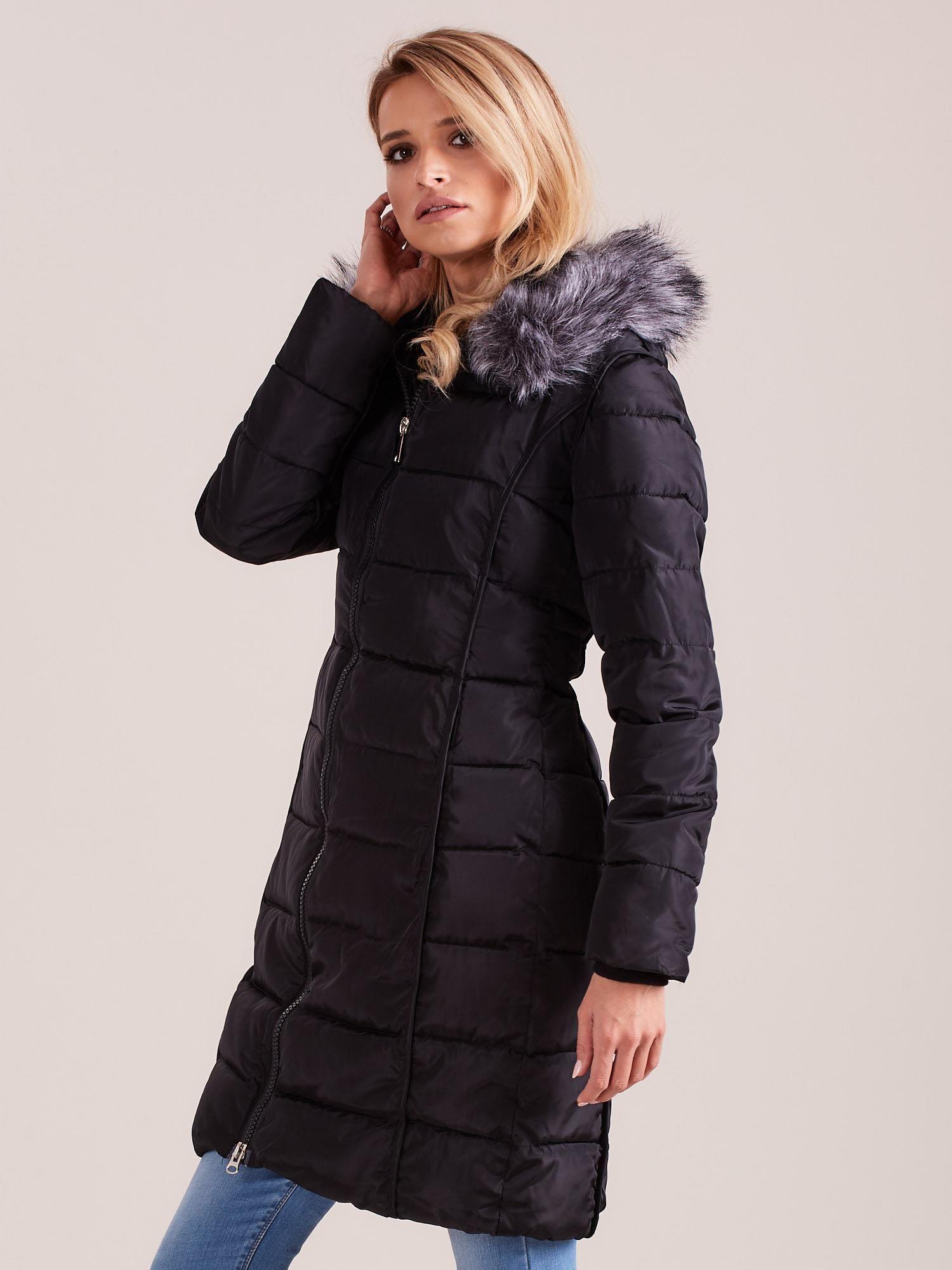 kurtka zimowa damksa pikowana