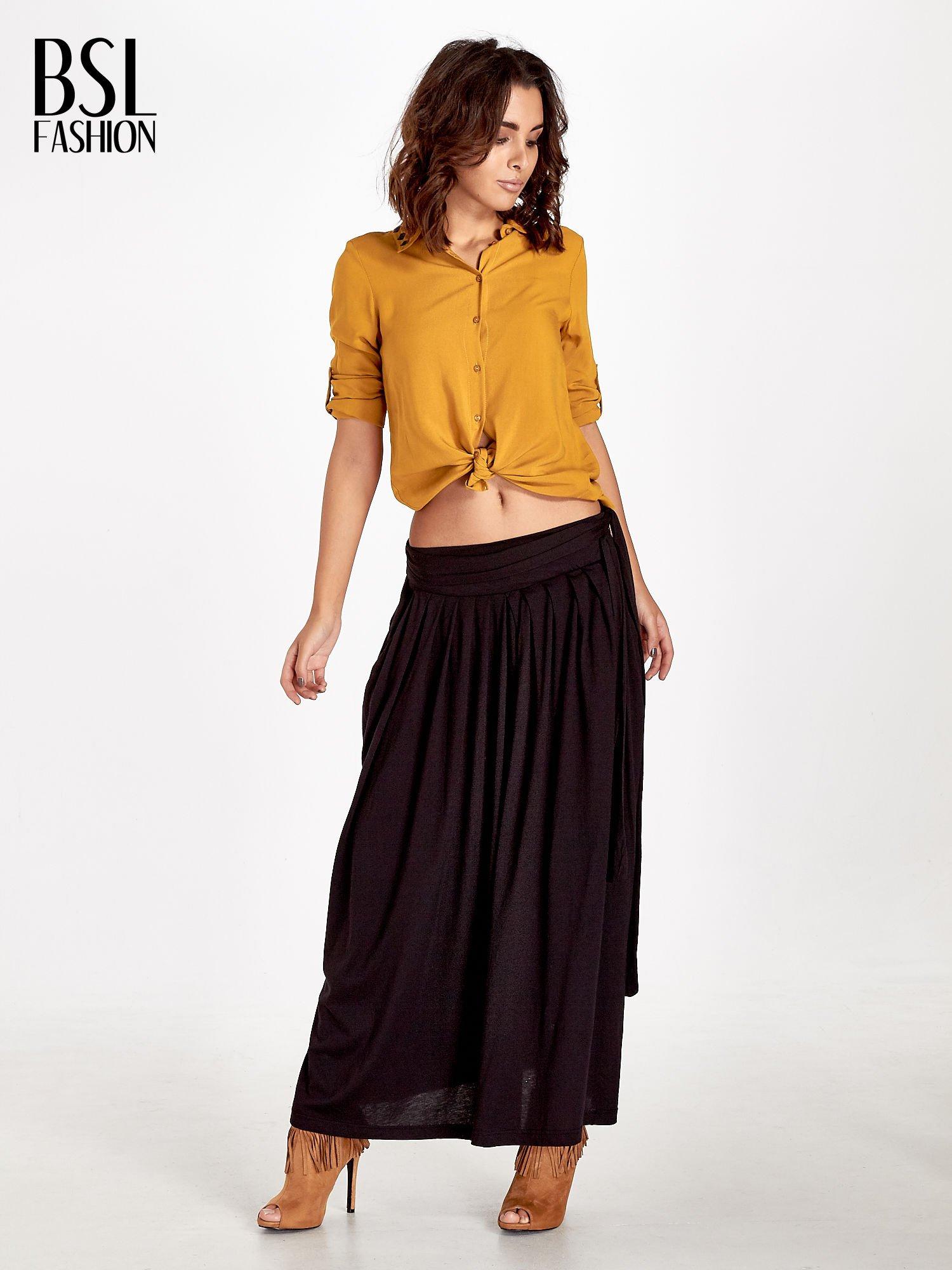 Czarna plisowana spódnica maxi                                  zdj.                                  5