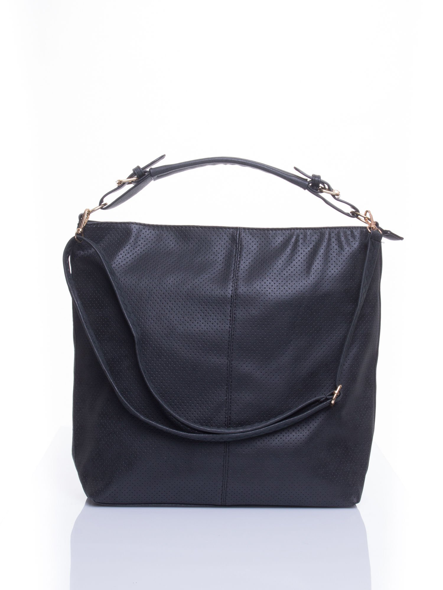 Czarna siateczkowa torba hobo                                  zdj.                                  1