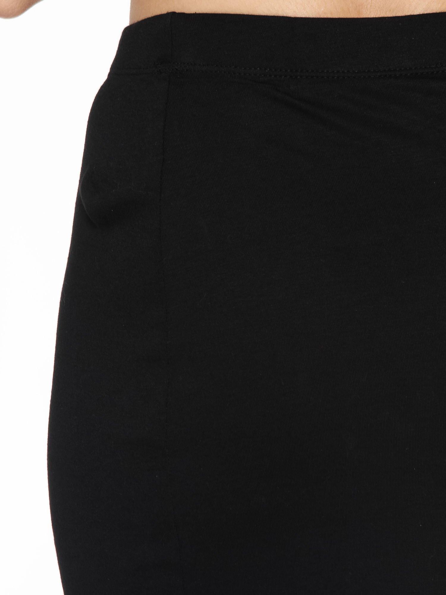 Czarna spódnica maxi z dużym rozcięciem z przodu                                  zdj.                                  6