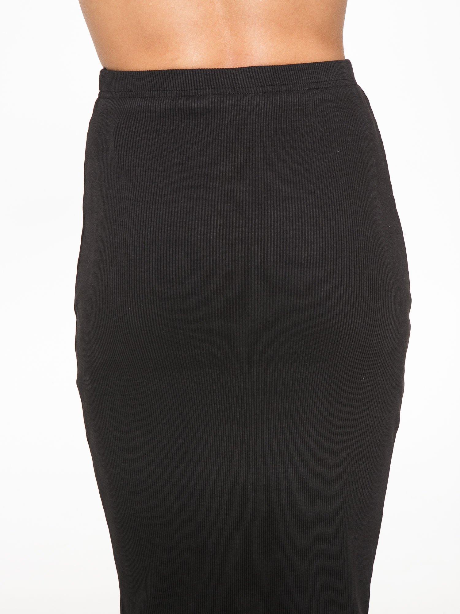 Czarna spódnica midi z suwakiem z przodu                                  zdj.                                  8