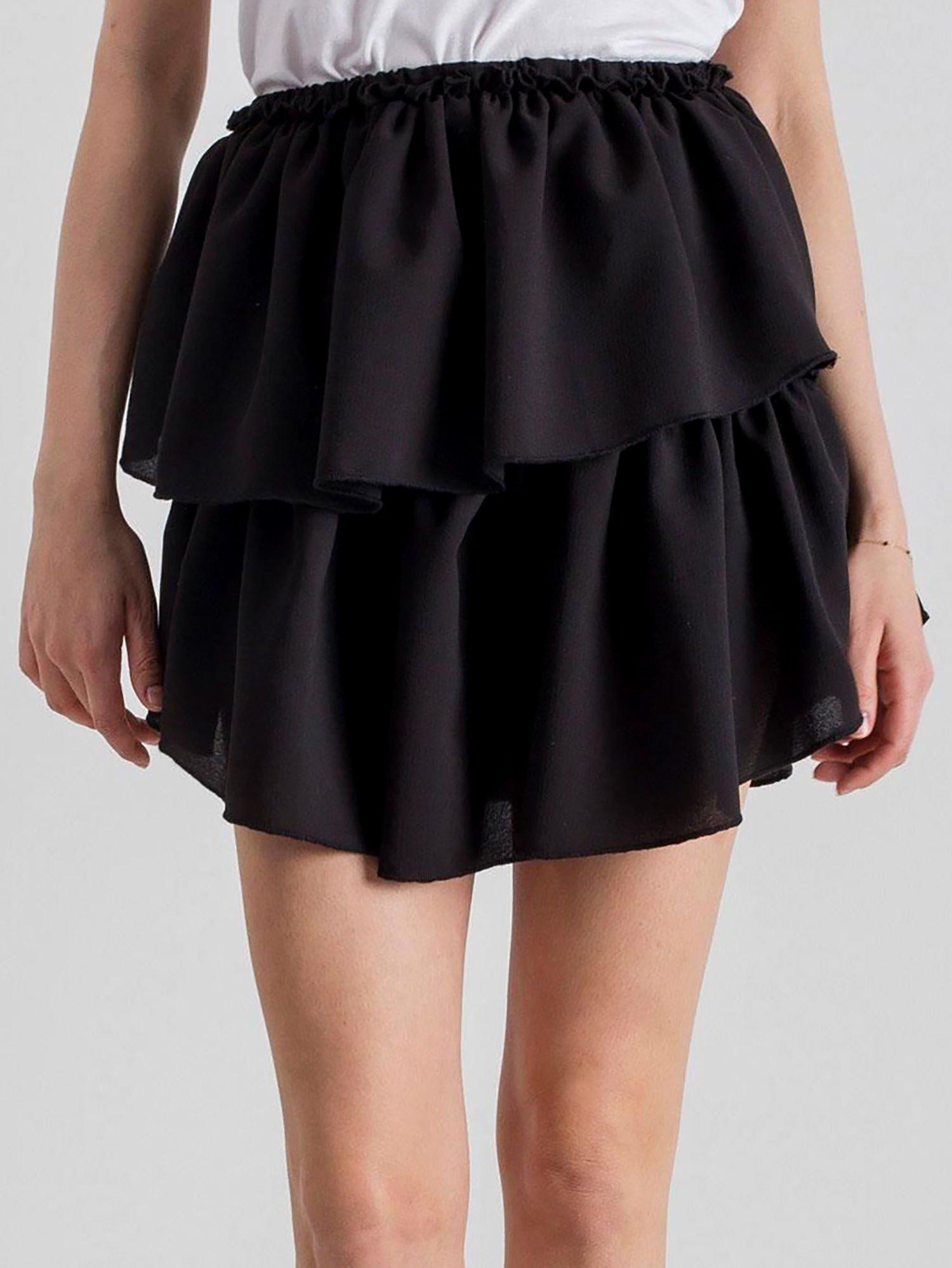Czarna spódnica z falbankami sm