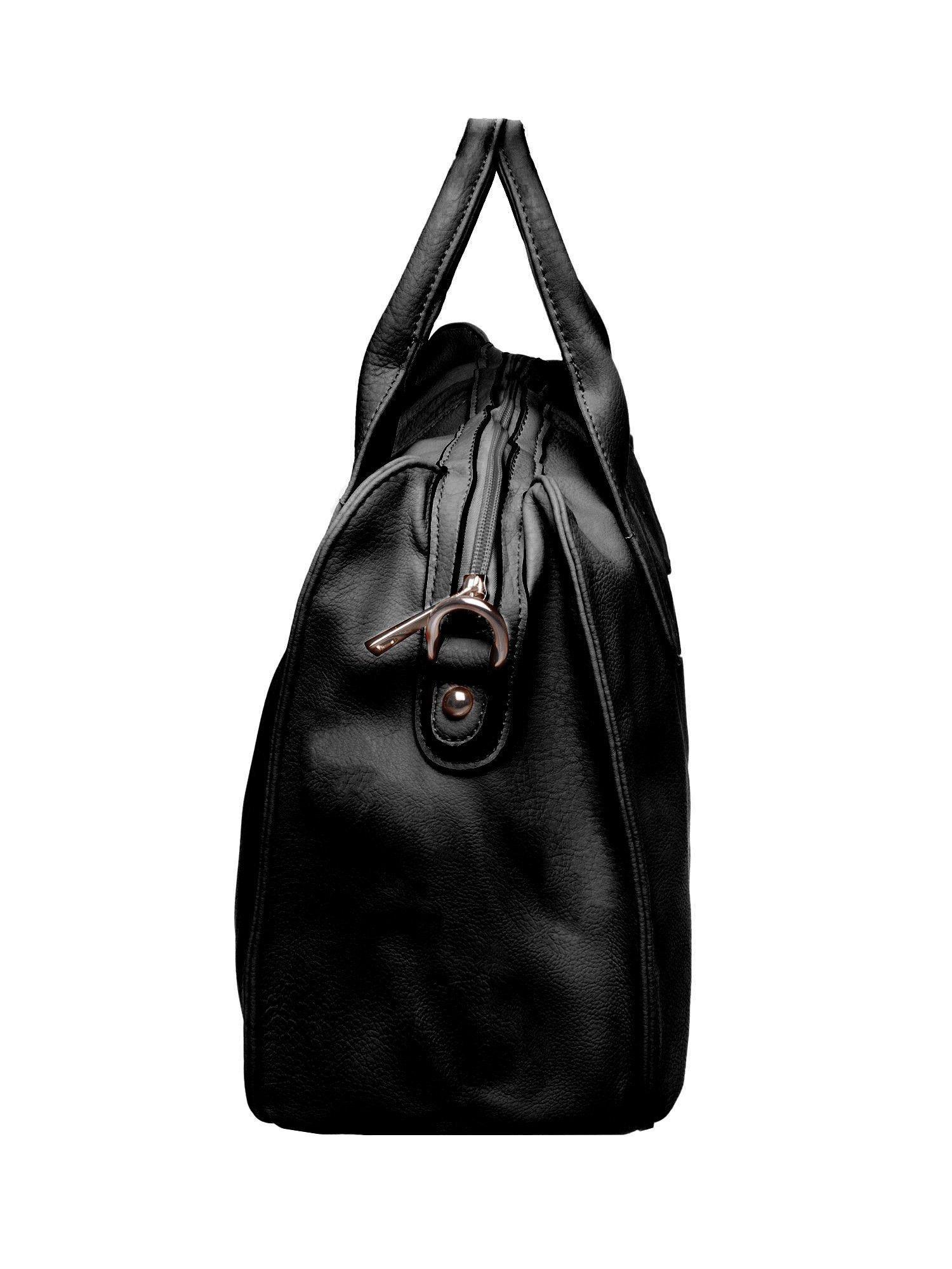 Czarna torba miejska z odpinanym paskiem                                  zdj.                                  3