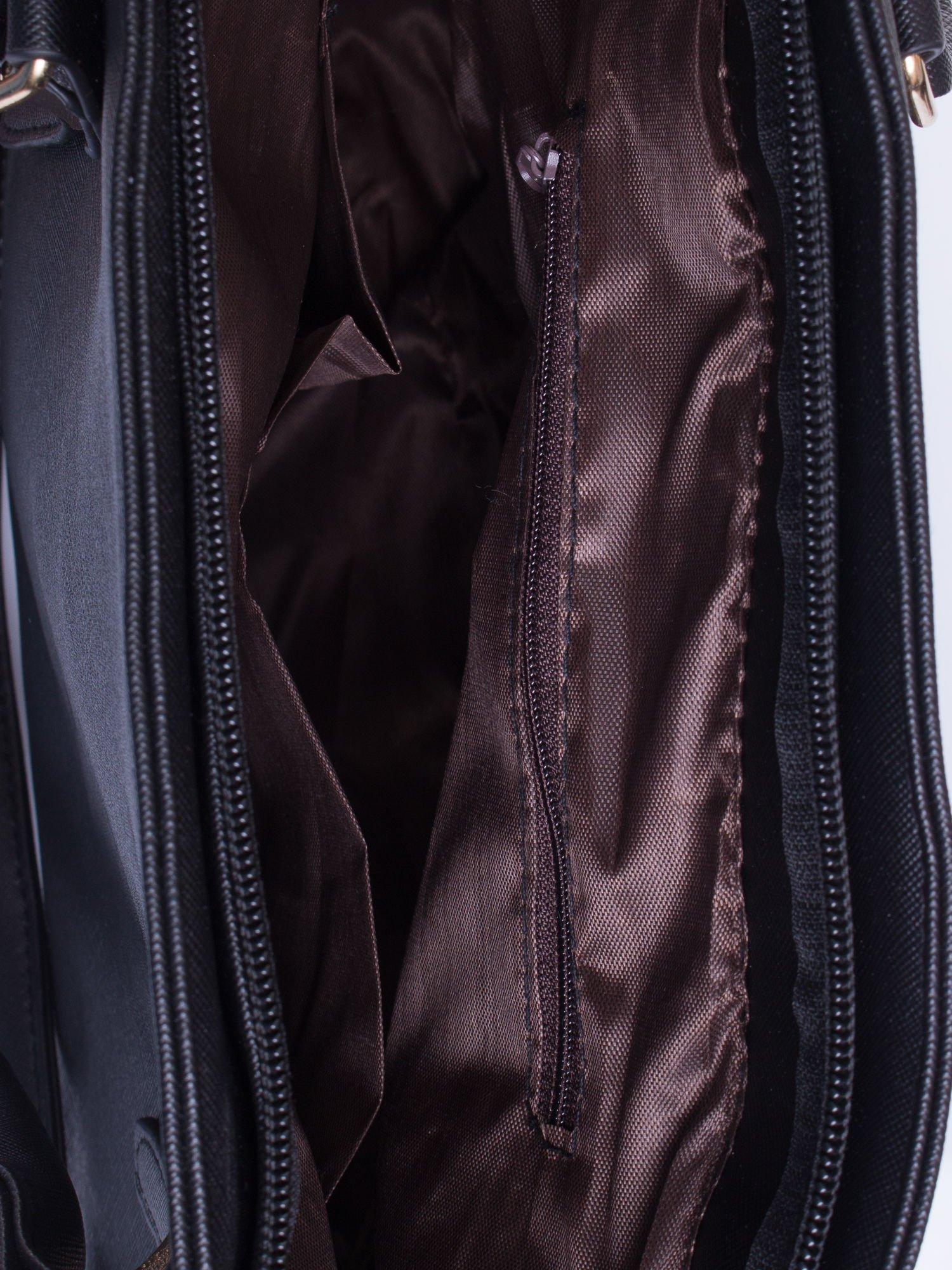 Czarna torba shopper bag z odpinanym paskiem                                  zdj.                                  6