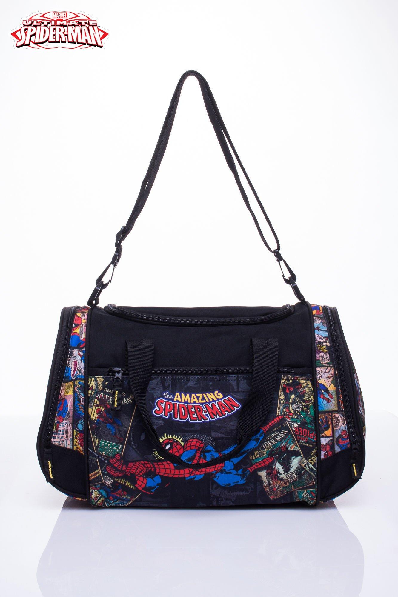 Czarna torba sportowa MARVEL SpiderMan                                  zdj.                                  1