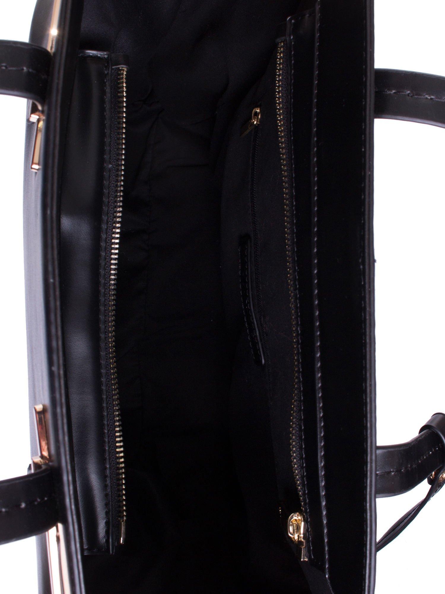 Czarna torba z doczepianą saszetką                                  zdj.                                  4