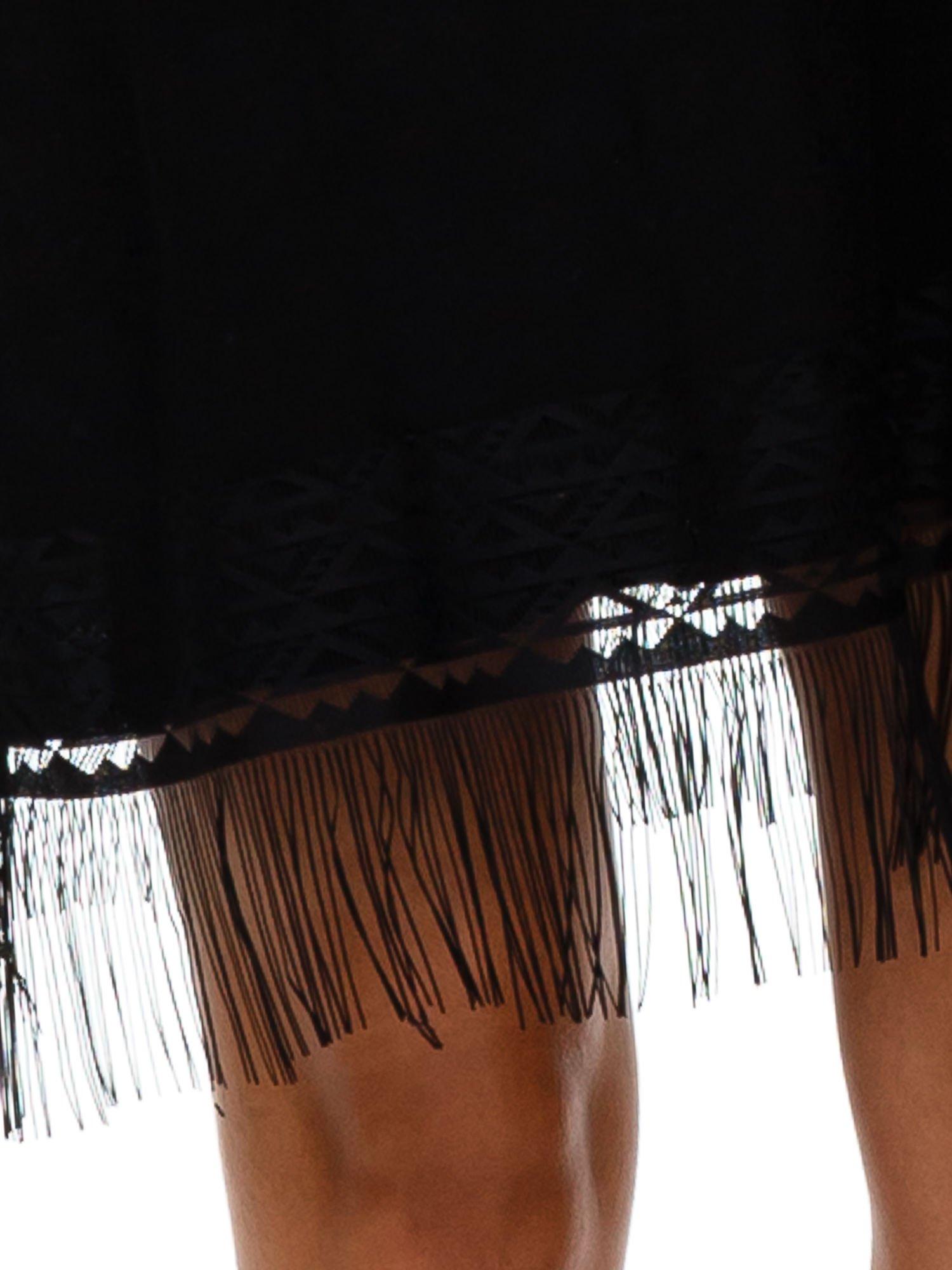 Czarna tunika z frędzlami                                  zdj.                                  6