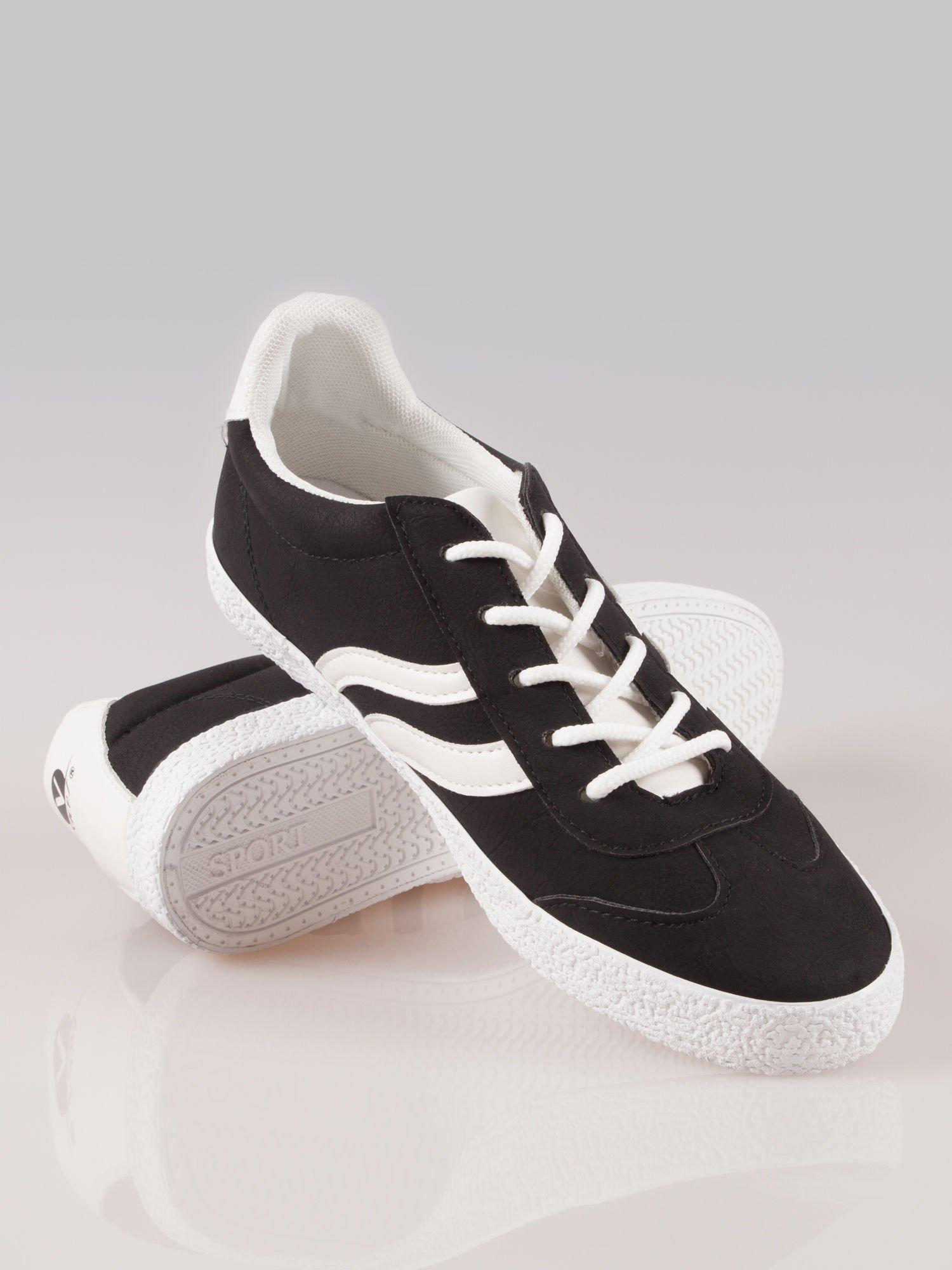 Czarne buty sportowe w stylu casual Kash                                  zdj.                                  4