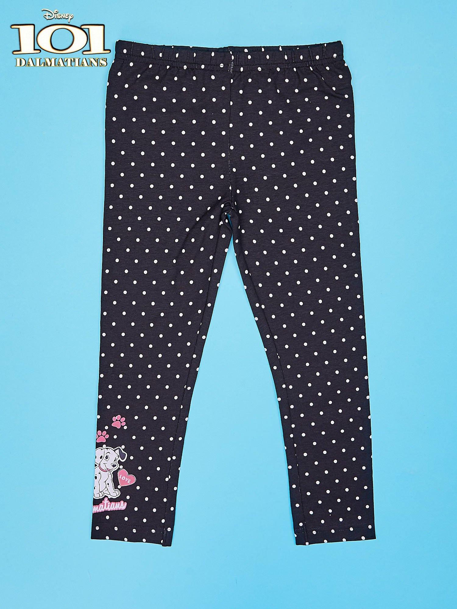 Czarne legginsy dla dziewczynki 101 DALMATYŃCZYKÓW                                  zdj.                                  1