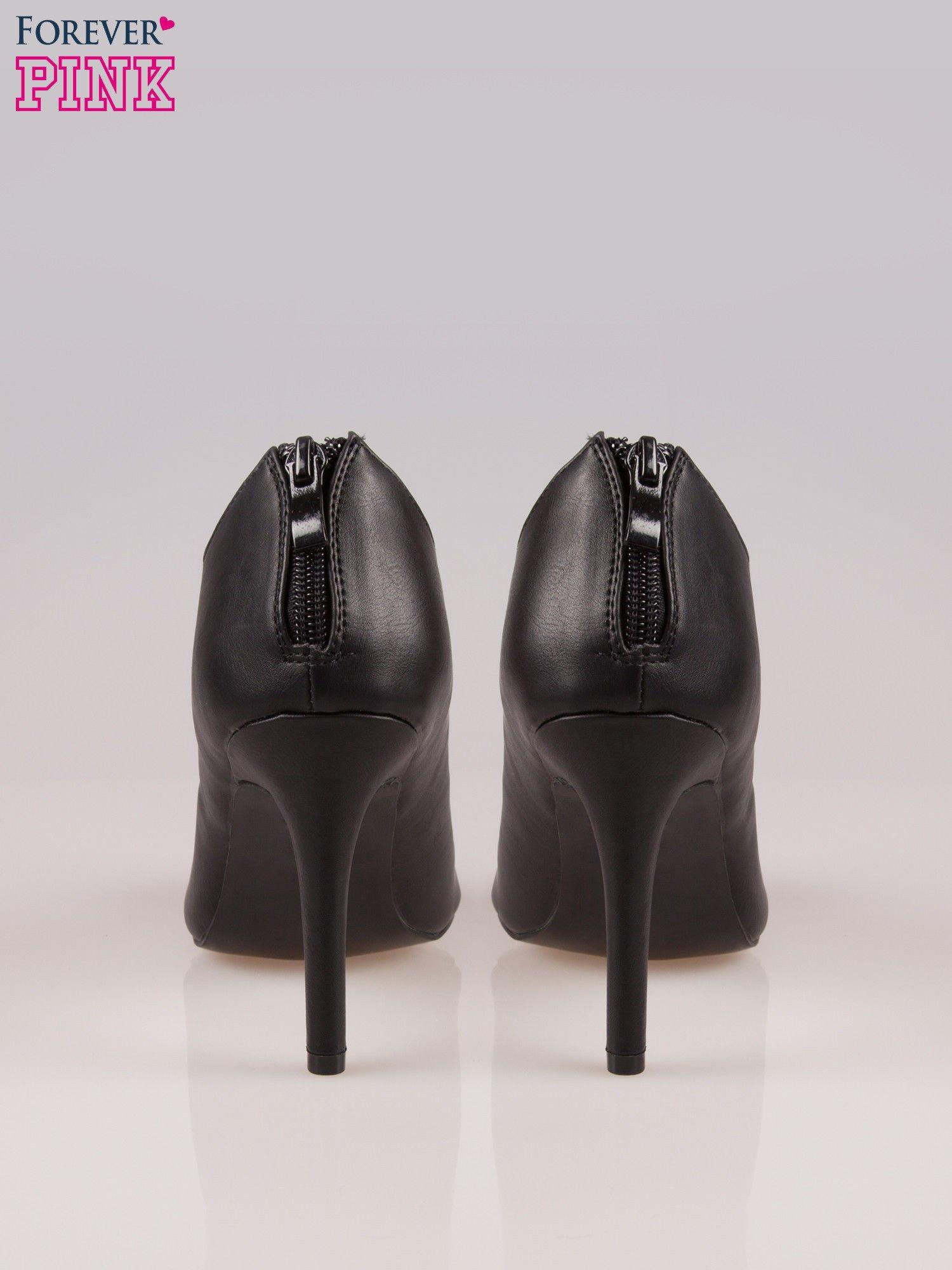 Czarne wiązane sandały typu gladiatorki Dion                                  zdj.                                  3