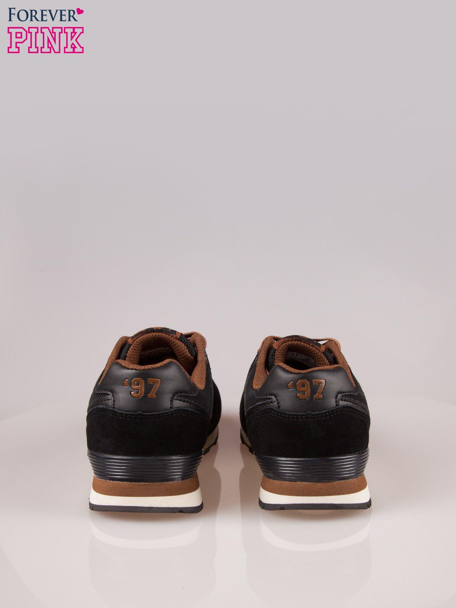 Czarno-brązowe buty sportowe damskie                                  zdj.                                  3