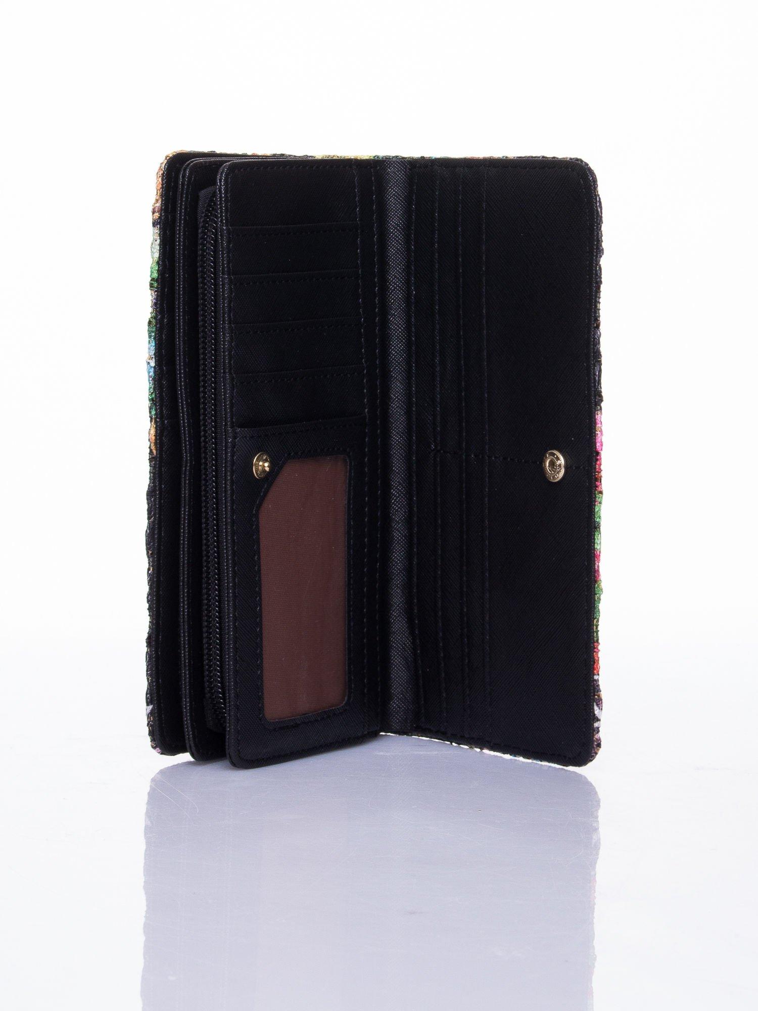 Czarny portfel z nadrukiem paisley                                  zdj.                                  5