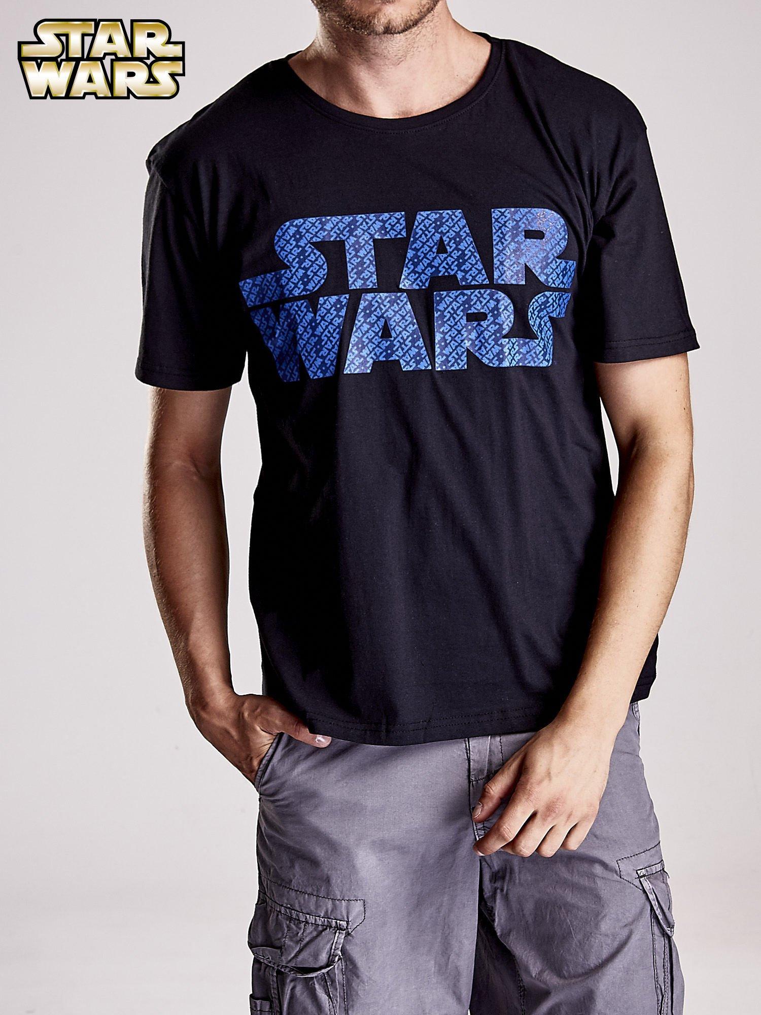 Czarny t-shirt męski z nadrukiem STAR WARS                                  zdj.                                  6