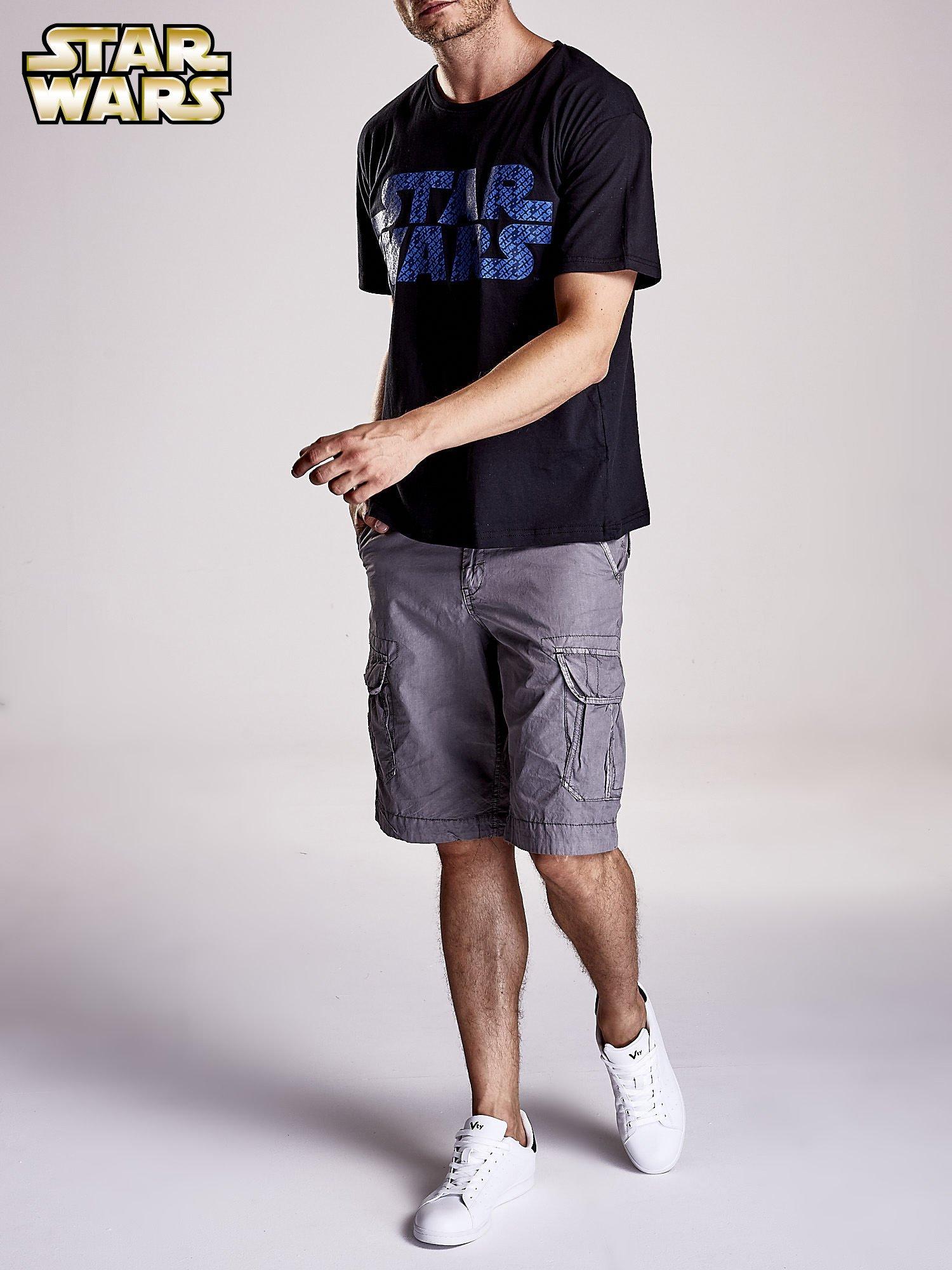 Czarny t-shirt męski z nadrukiem STAR WARS                                  zdj.                                  9