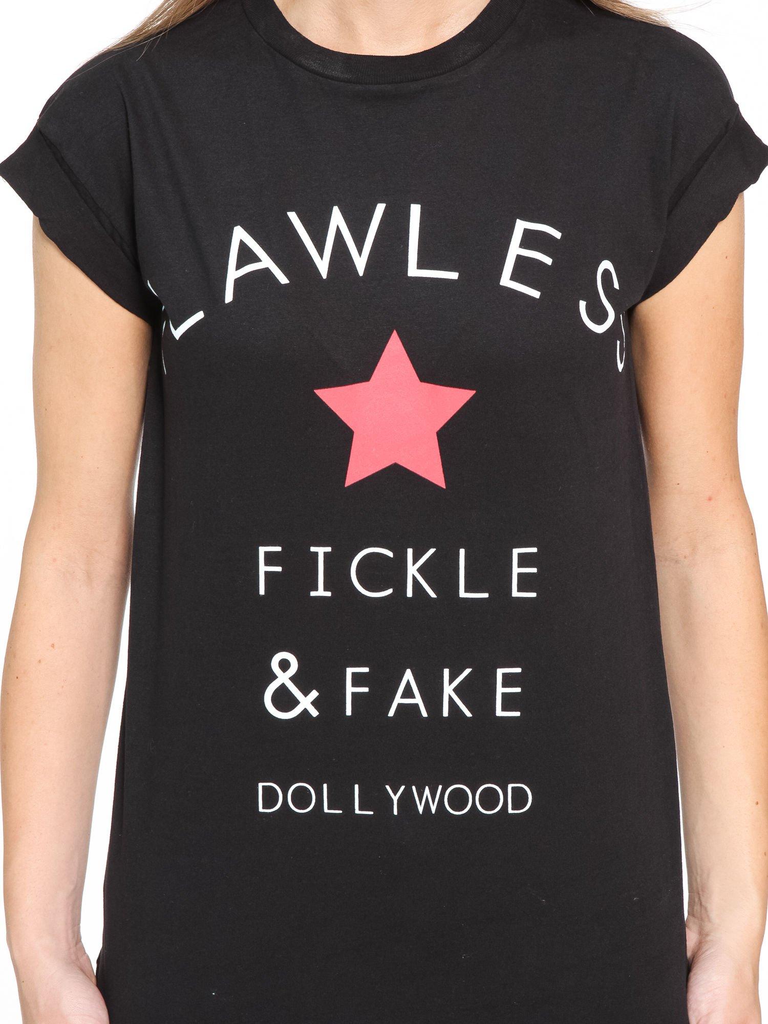 Czarny t-shirt z nadrukiem DOLLYWOOD                                  zdj.                                  10