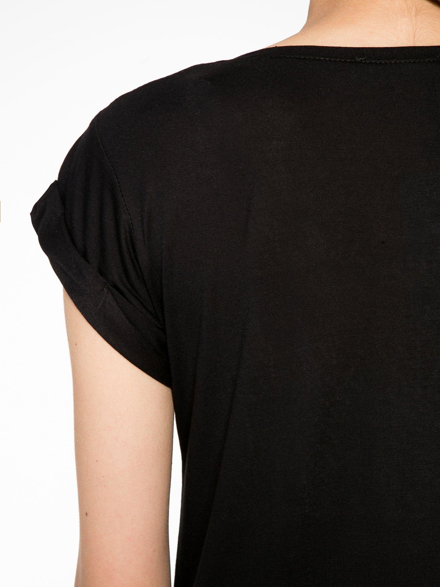 Czarny t-shirt z napisem DON'T WAIT                                  zdj.                                  10