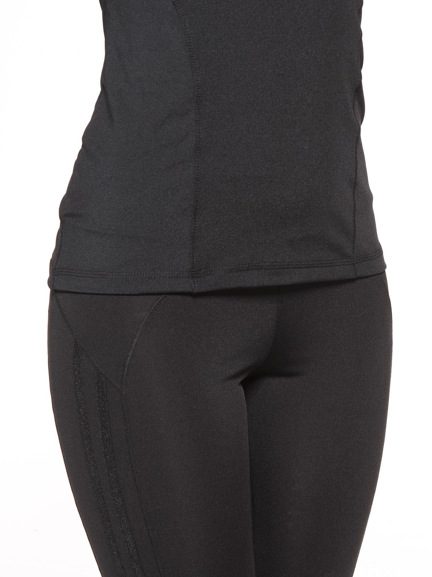 Czarny termoaktywny t-shirt sportowy z siateczką z tyłu ♦ Performance RUN                                  zdj.                                  7