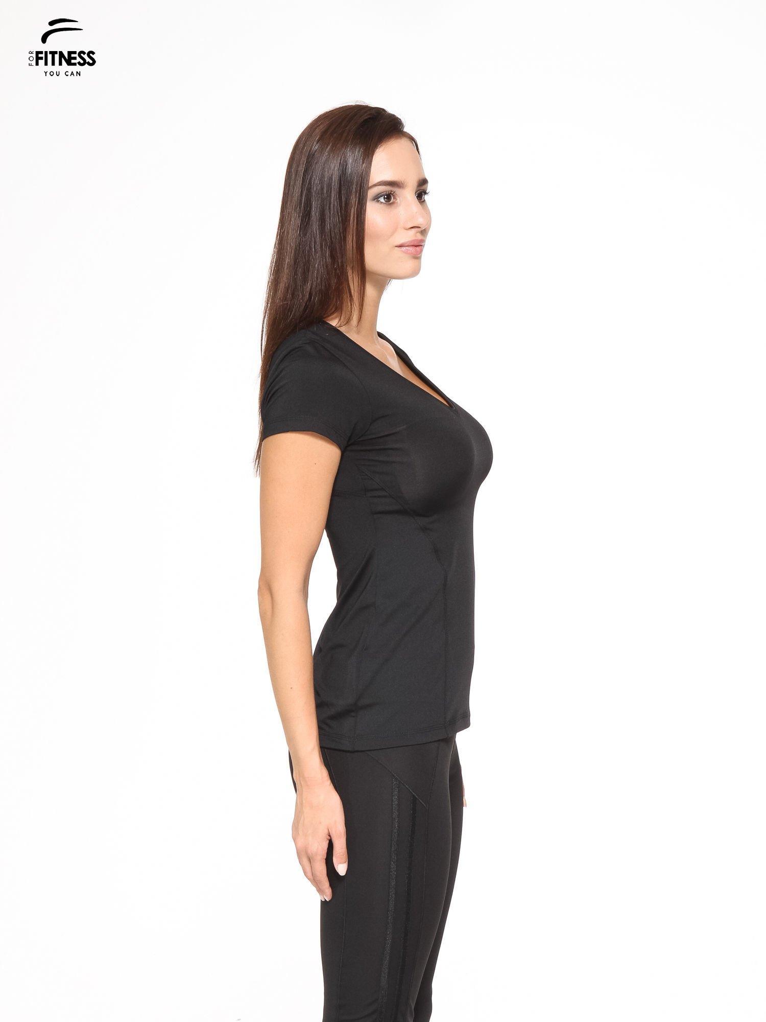 Czarny termoaktywny t-shirt sportowy z siateczką z tyłu ♦ Performance RUN                                  zdj.                                  3
