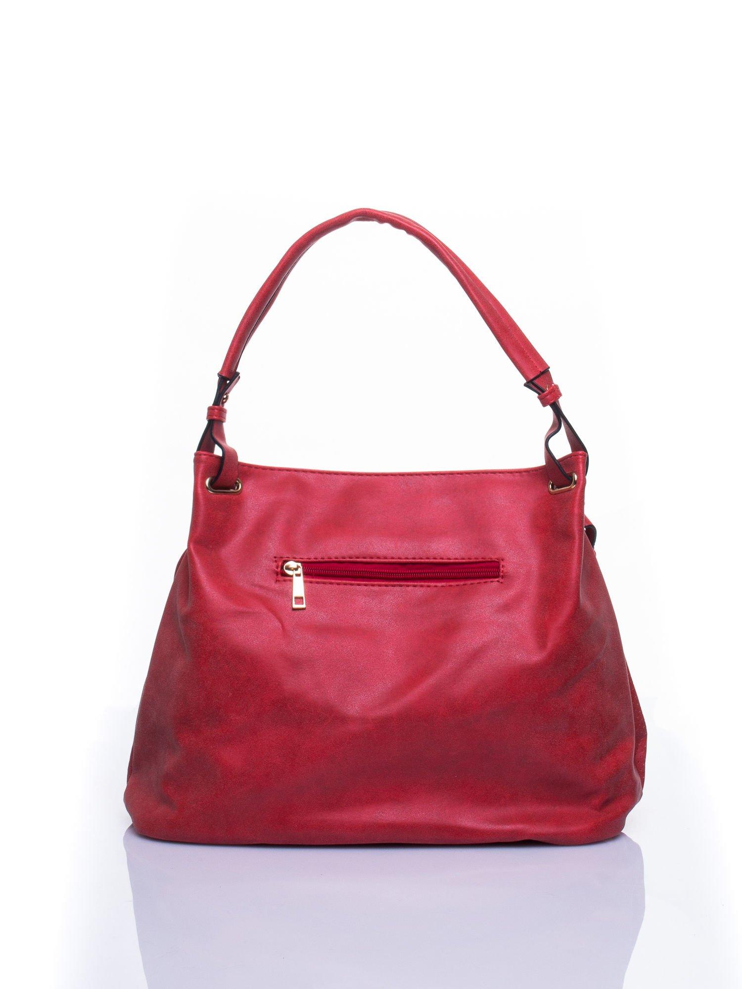 Czerwona ażurowa torba na ramię                                  zdj.                                  3