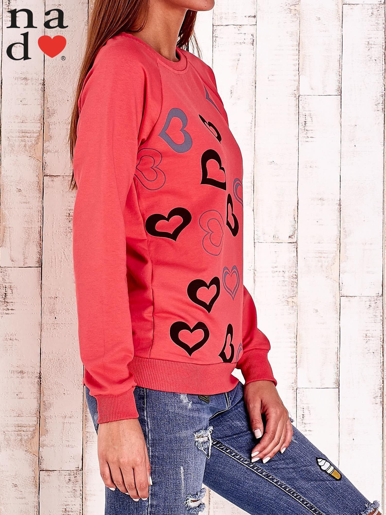 Czerwona bluza w serduszka                                  zdj.                                  3