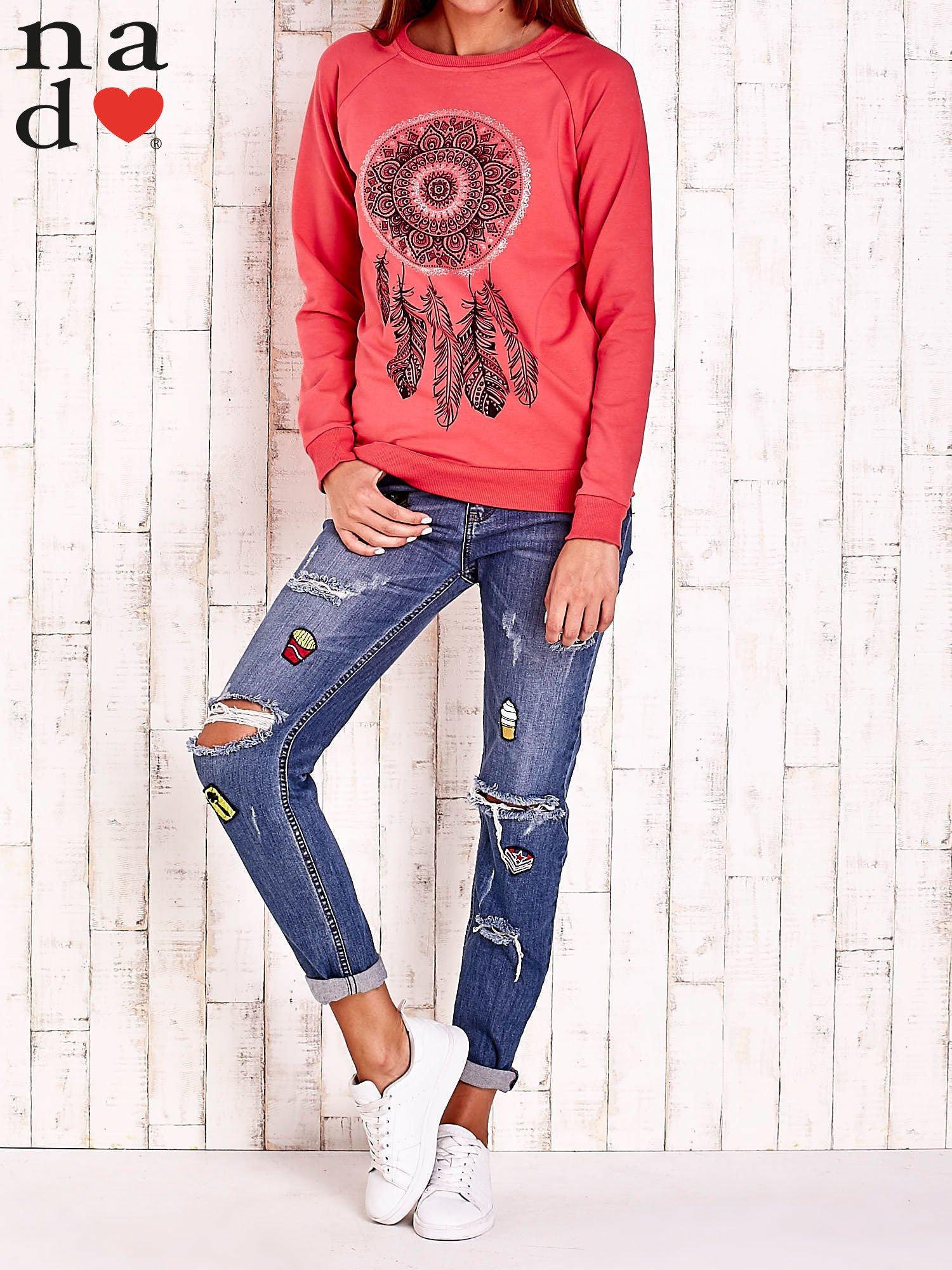 Czerwona bluza z łapaczem snów                                  zdj.                                  2