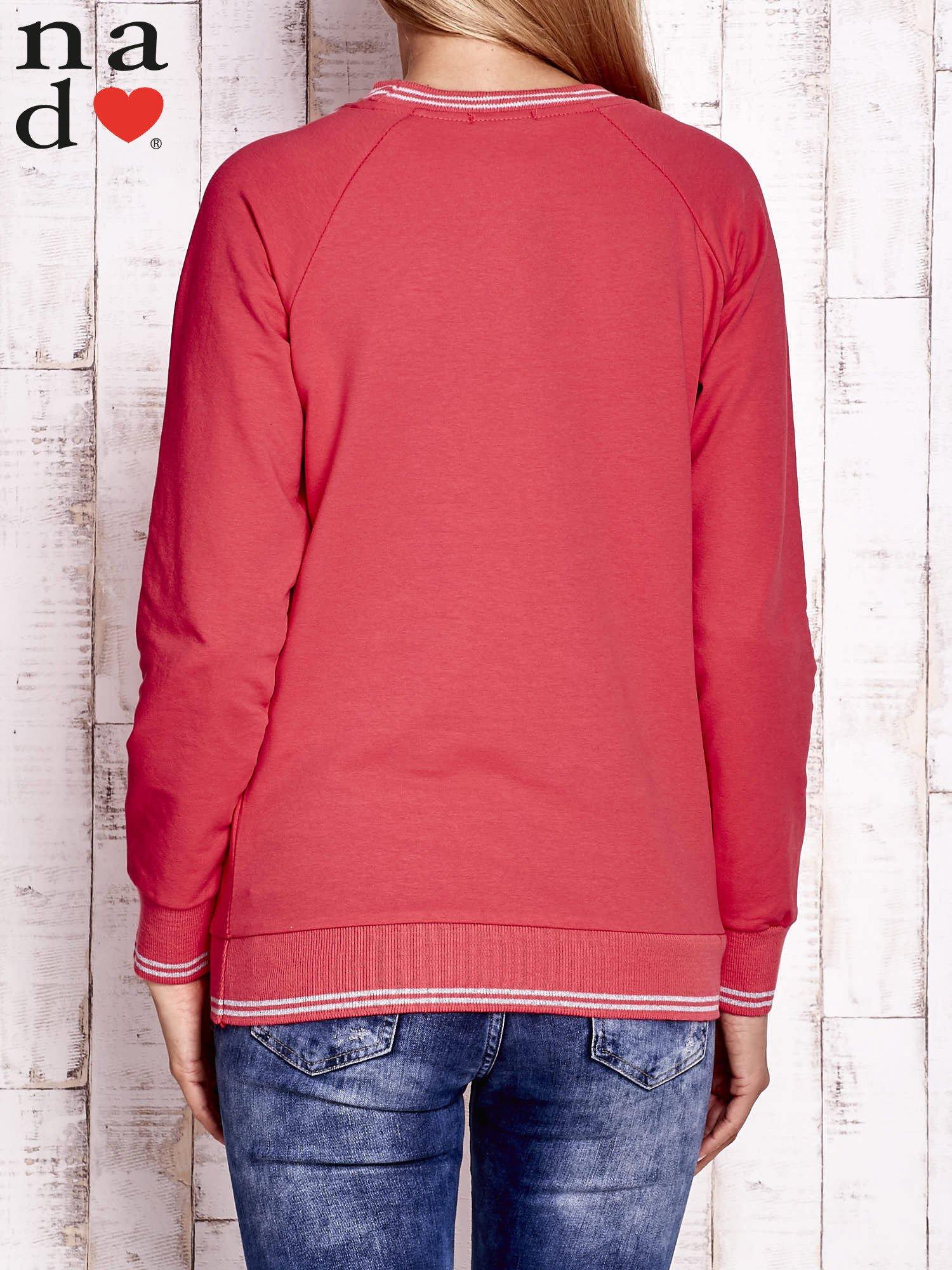 Czerwona bluza z napisem ŁOBUZIARA                                  zdj.                                  4