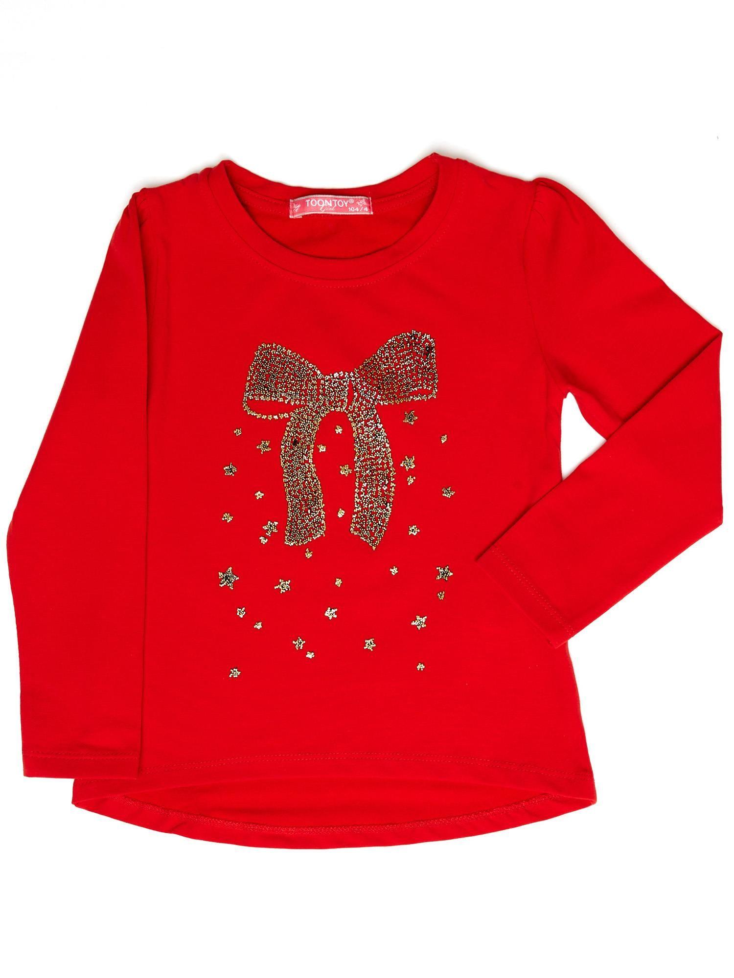 Czerwona Bluzka Dla Dziewczynki