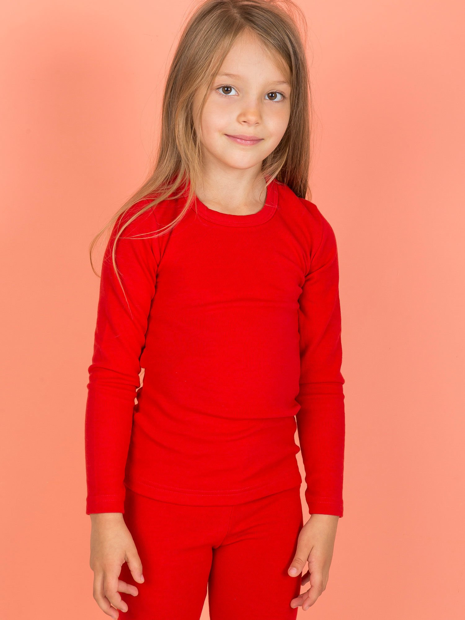 Czerwona Bluzka Dla Dziewczynki Z Długim Rękawem Dziecko Dziewczynka Bluzka Sklep Ebutik Pl