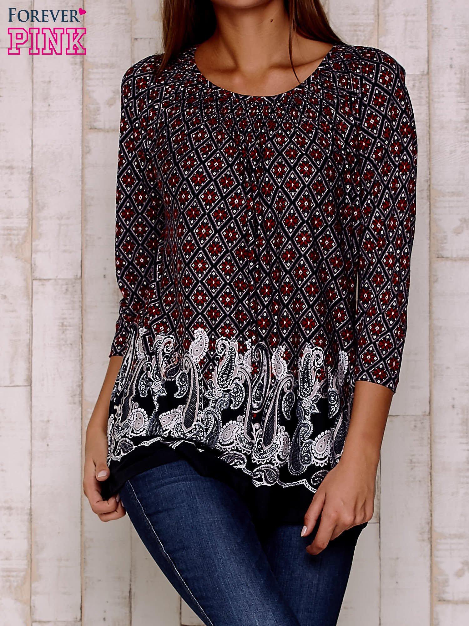 Czerwona bluzka ze wzorem paisley                                  zdj.                                  1
