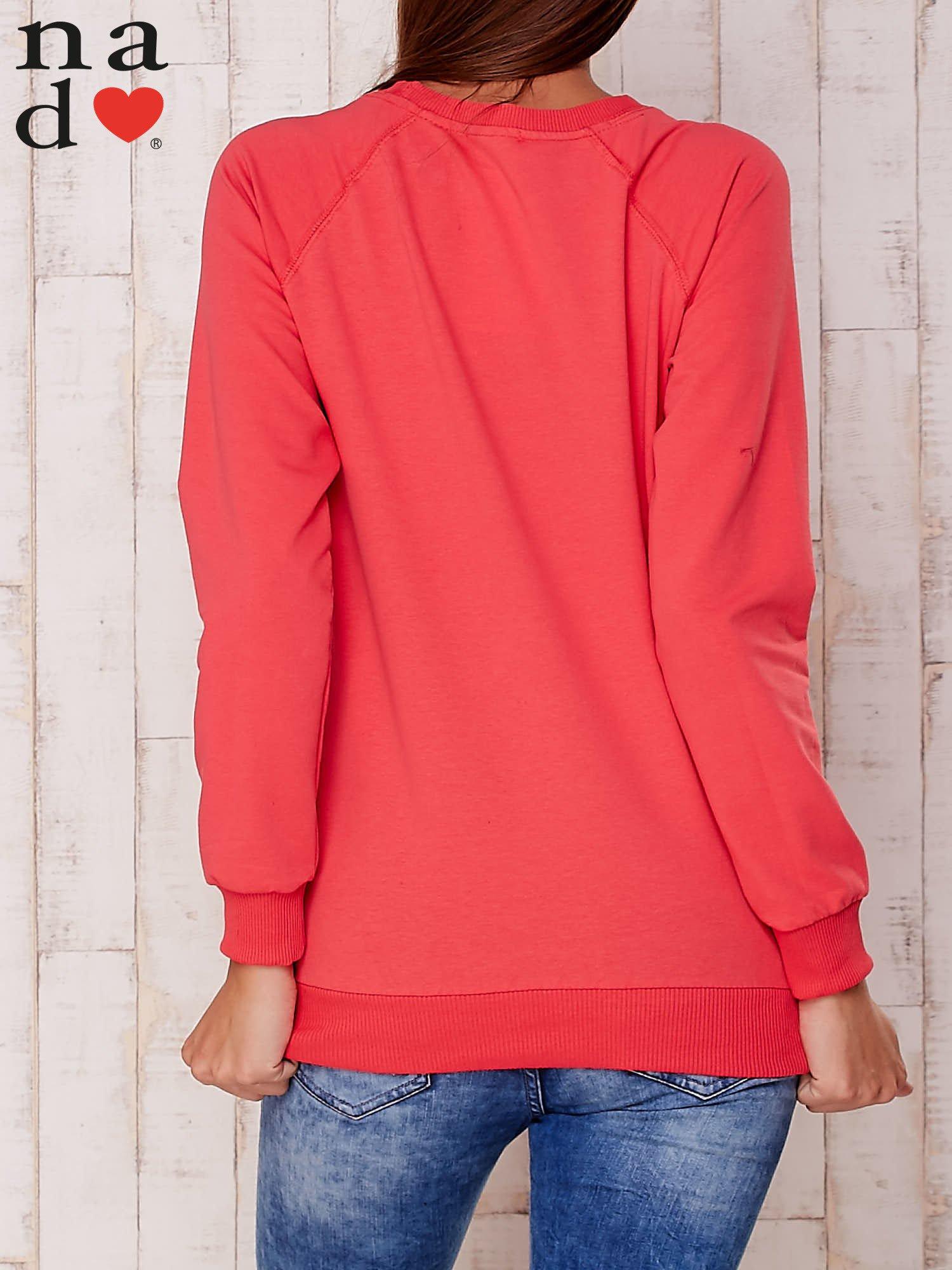 Czerwona gładka bluza                                  zdj.                                  4
