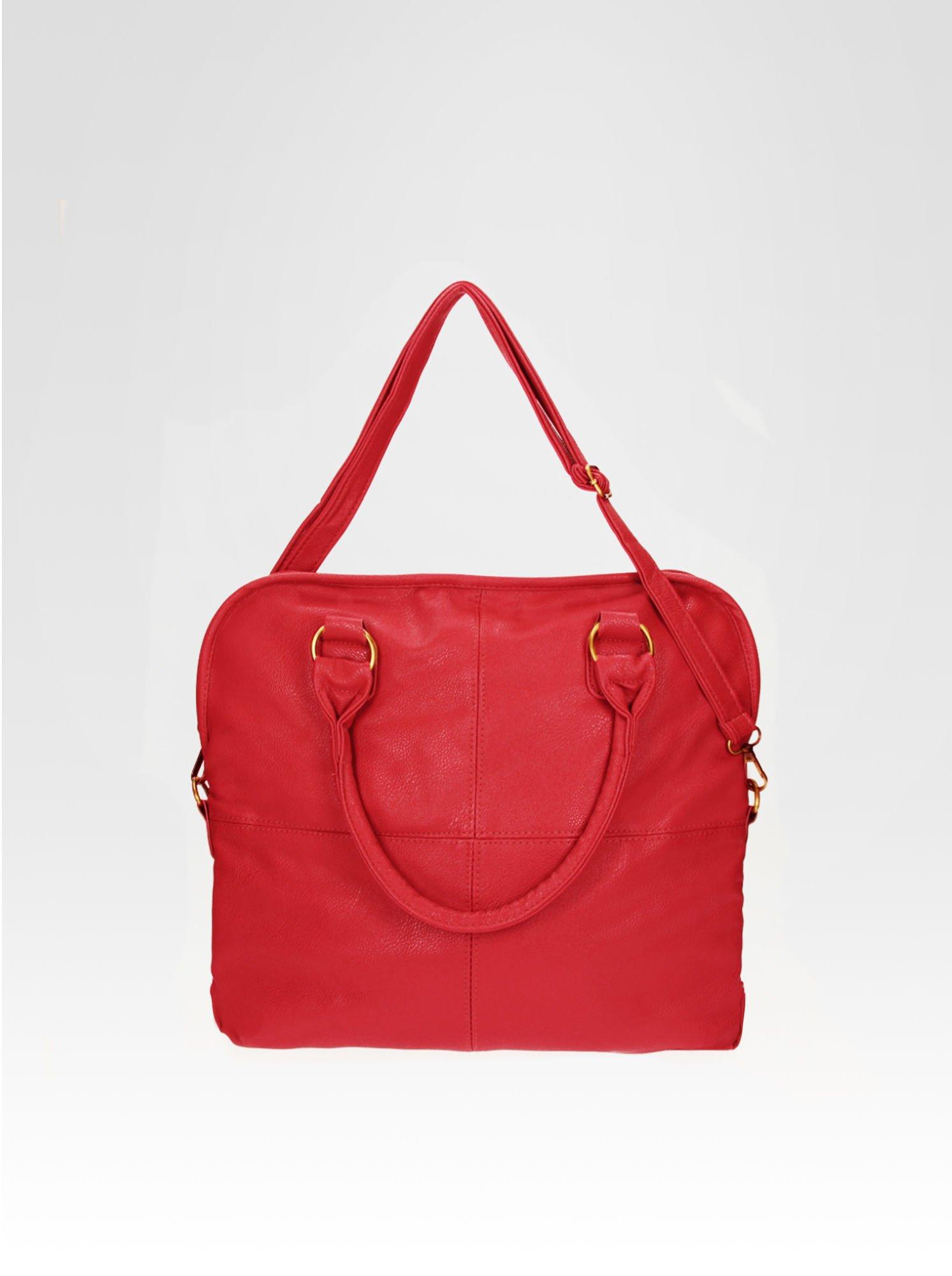 Czerwona torba miejska na ramię                                  zdj.                                  4