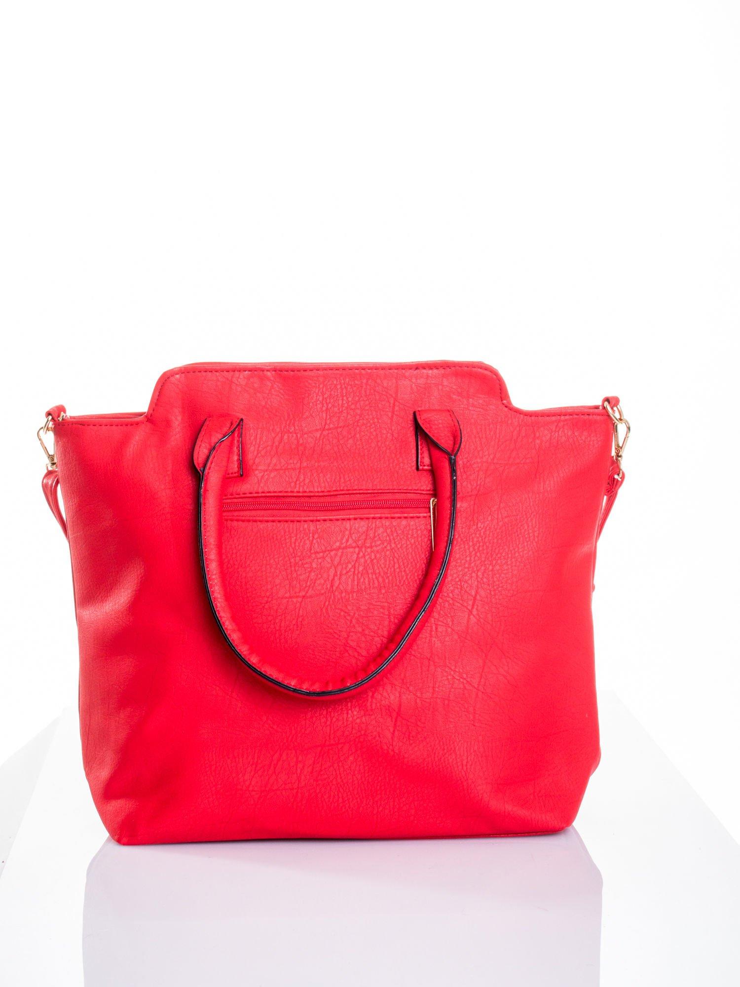 Czerwona torba shopper bag                                  zdj.                                  3