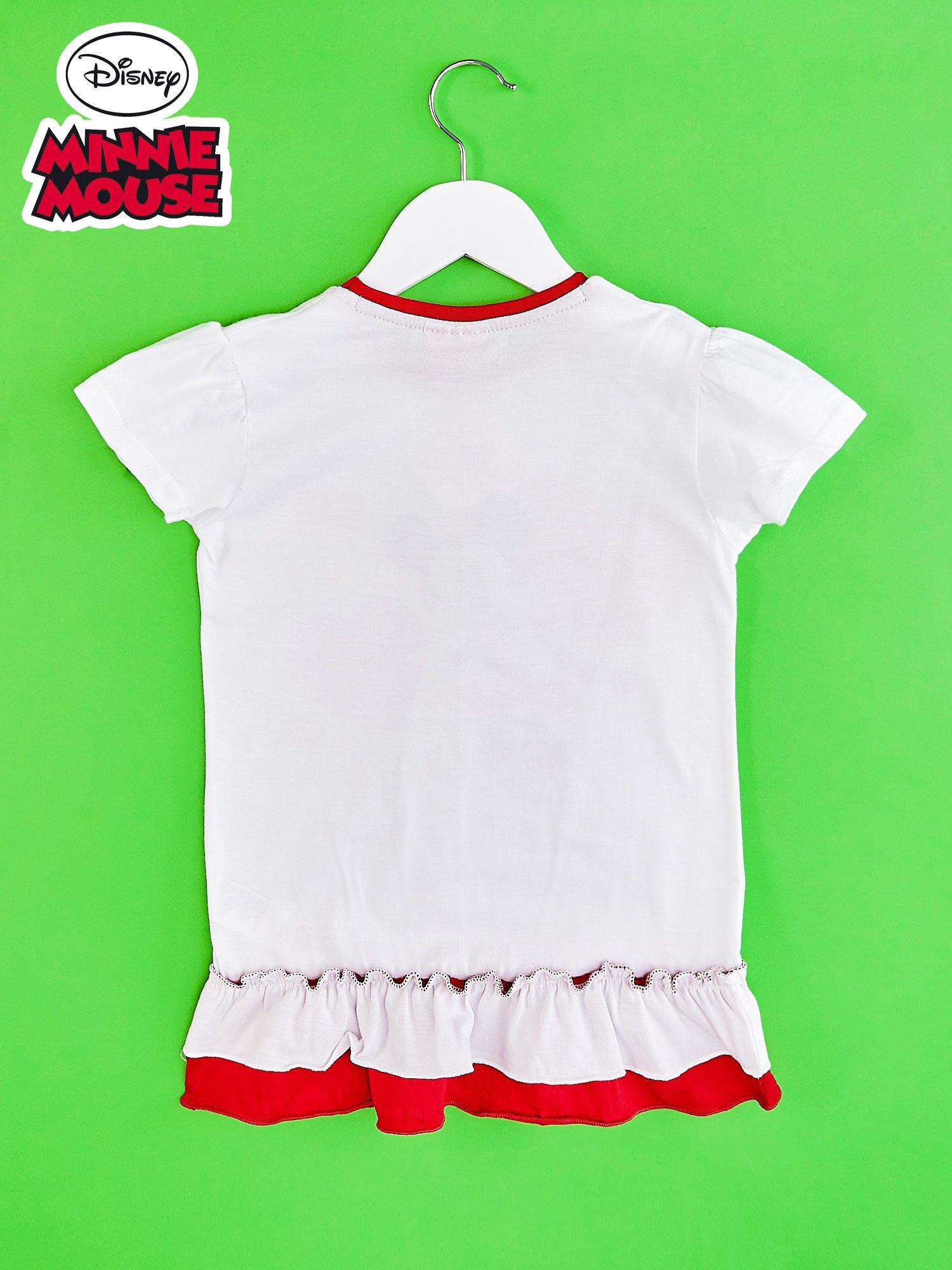 Czerwona tunika dla dziewczynki z motywem MINNIE MOUSE                                  zdj.                                  2