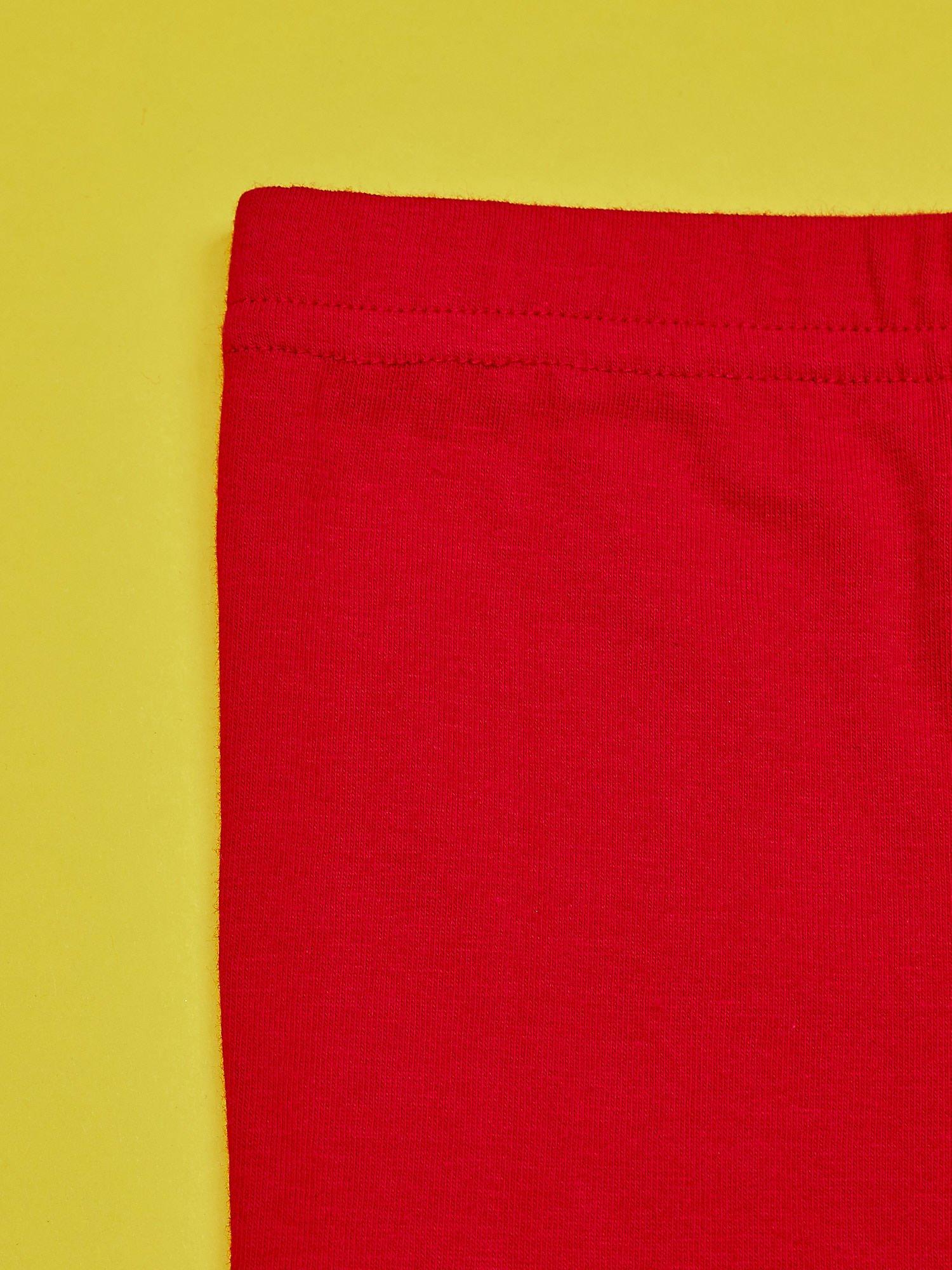 Czerwone legginsy dla dziewczynki z nadrukiem MY LITTLE PONY                                  zdj.                                  6