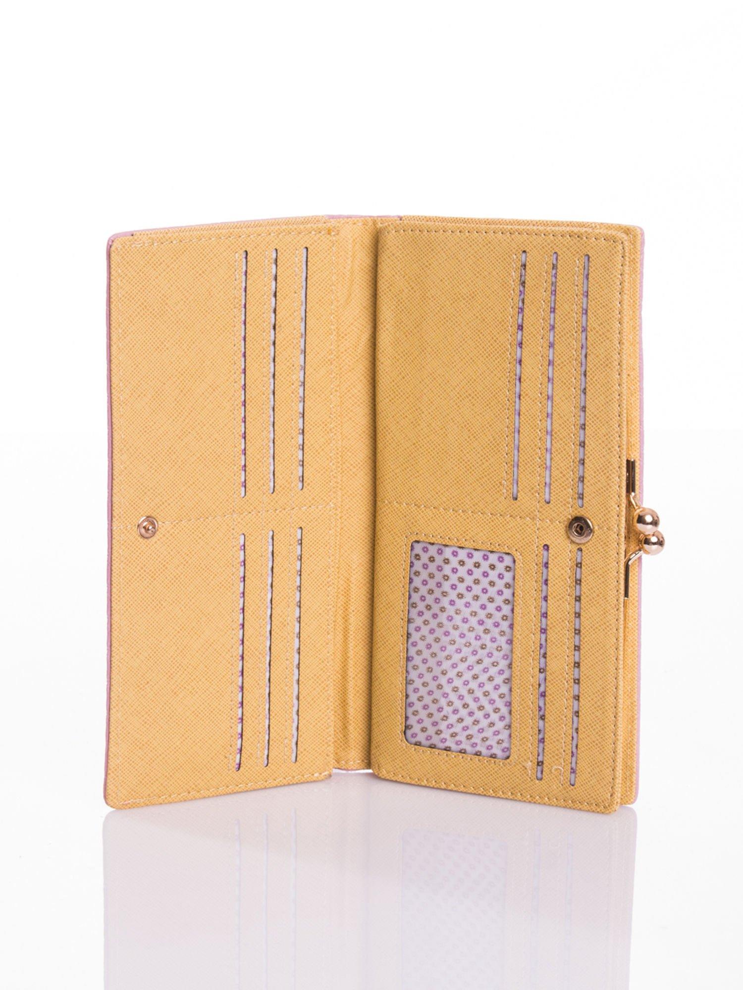 Czerwony elegancki portfel na bigiel                                  zdj.                                  3