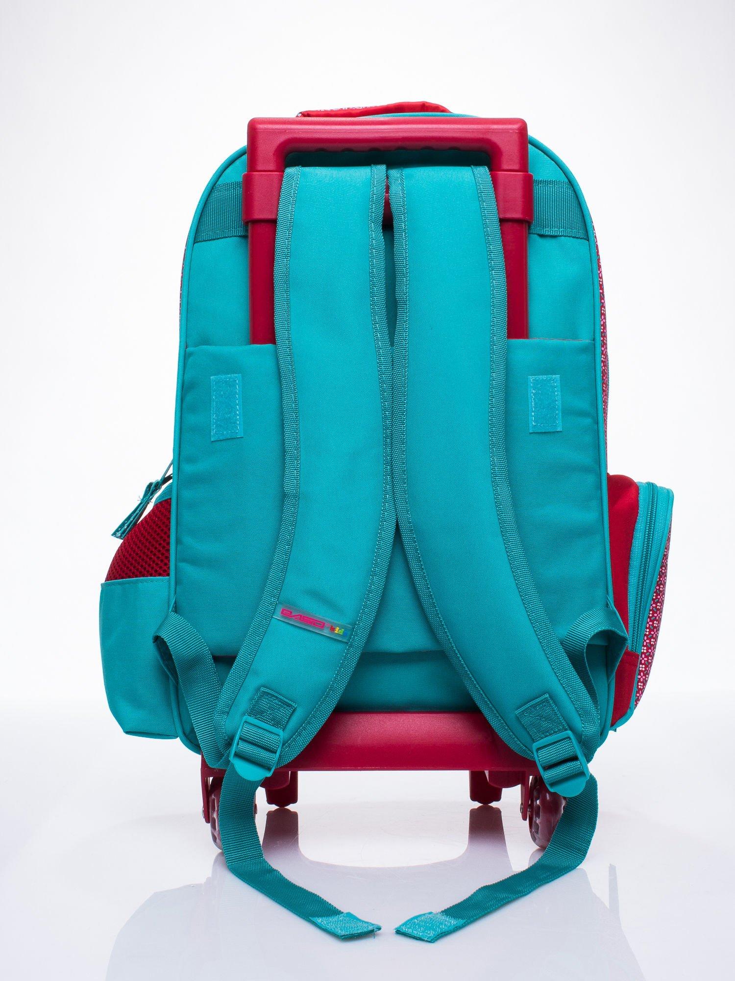 Czerwony plecak szkolny na kółkach walizka DISNEY w wisienki                                  zdj.                                  3