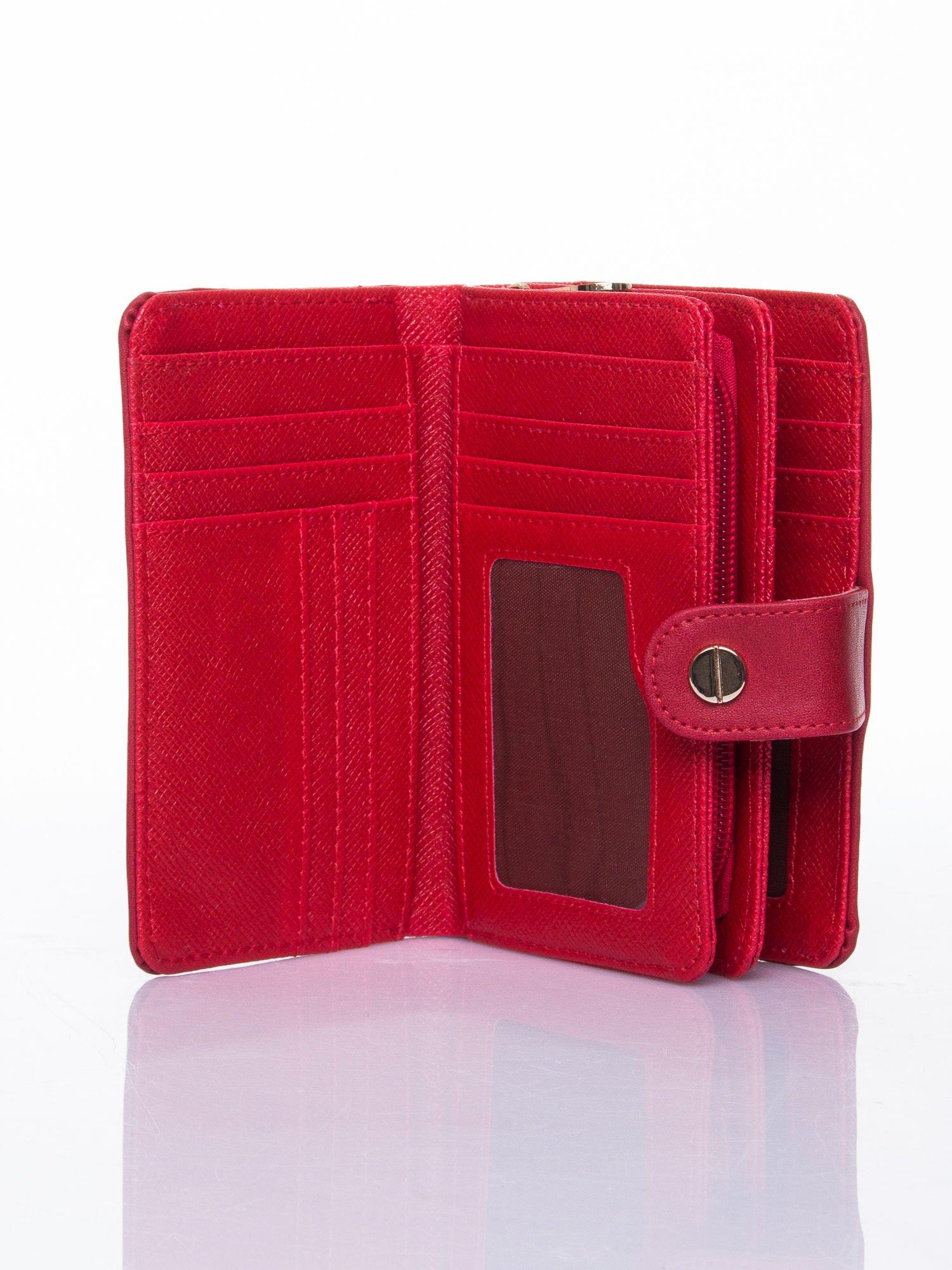 Czerwony portfel z zatrzaskiem                                  zdj.                                  5