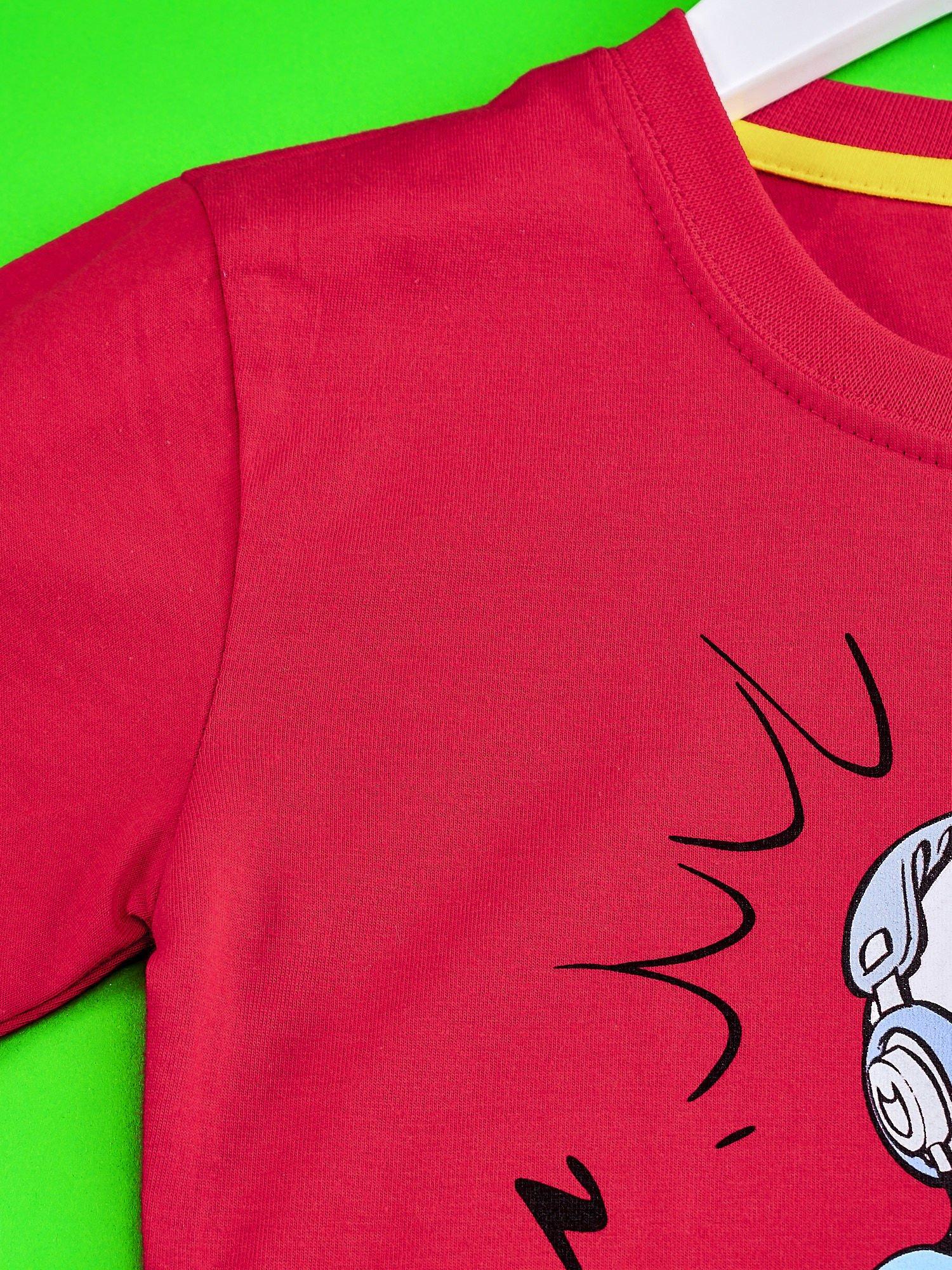 Czerwony t-shirt chłopięcy SMERFY                                  zdj.                                  3