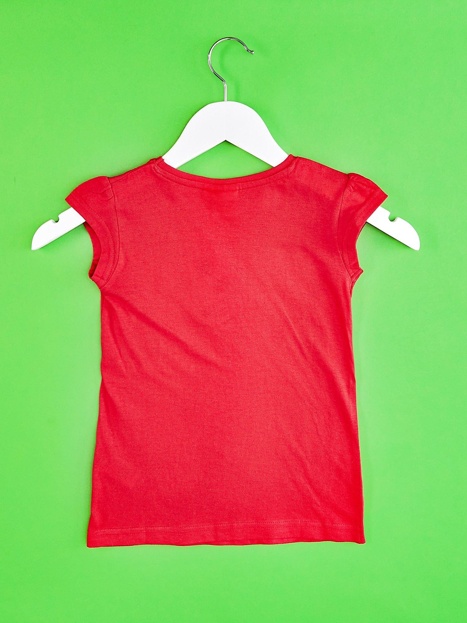 Czerwony t-shirt dla dziewczynki EQUESTRIA GIRLS                                  zdj.                                  2