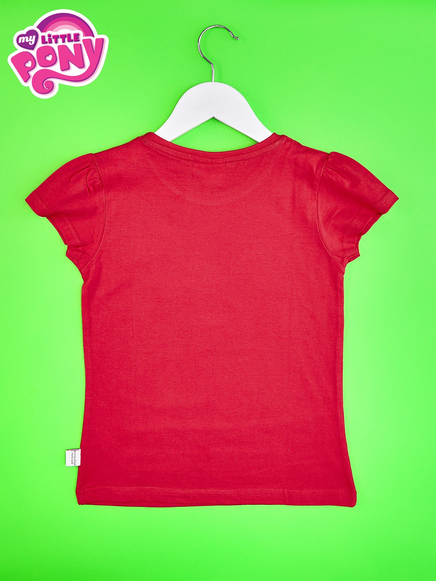Czerwony t-shirt dla dziewczynki z motywem MY LITTLE PONY                                  zdj.                                  2