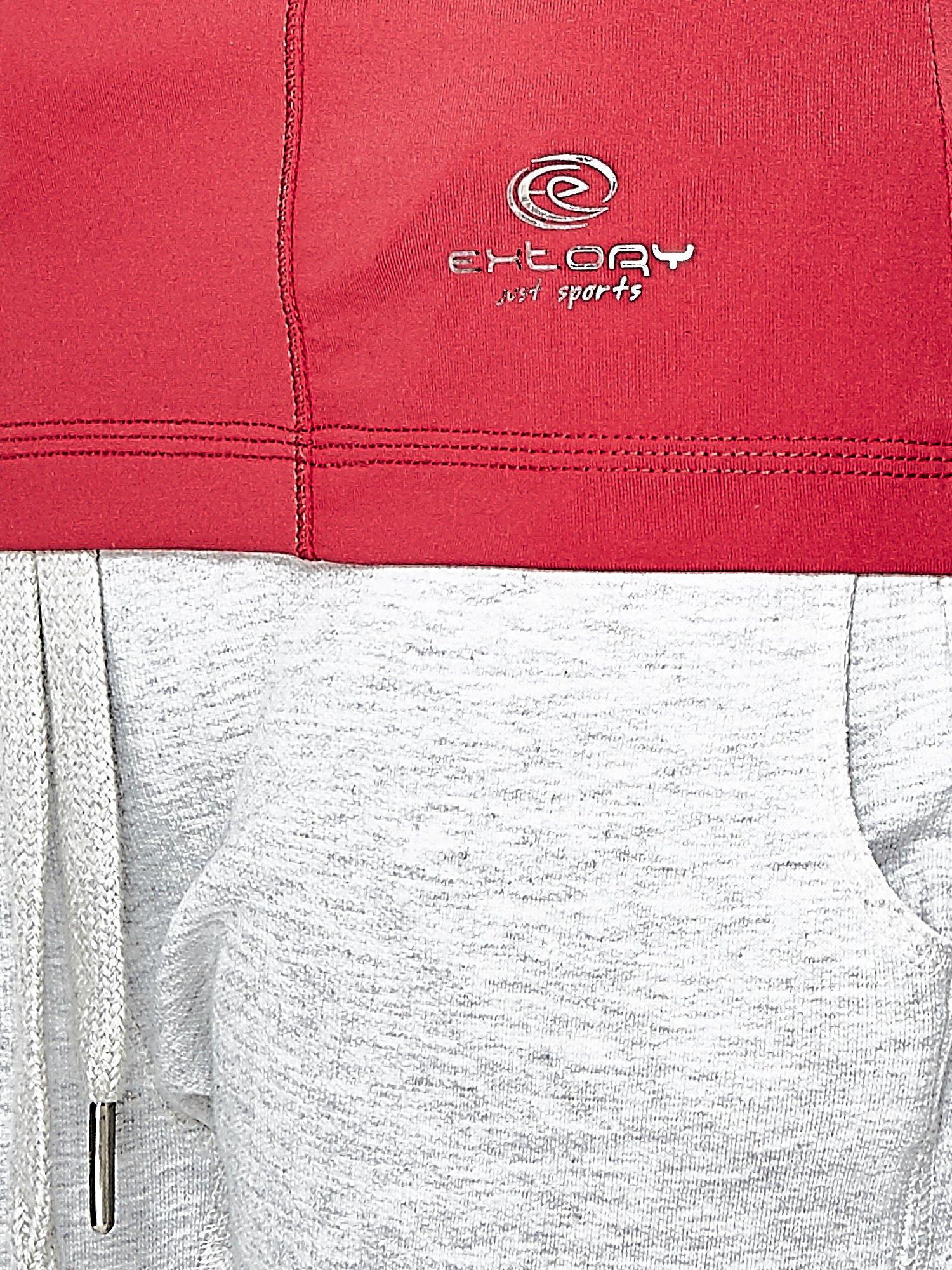 Czerwony t-shirt sportowy z dekoltem V-neck PLUS SIZE                                  zdj.                                  6